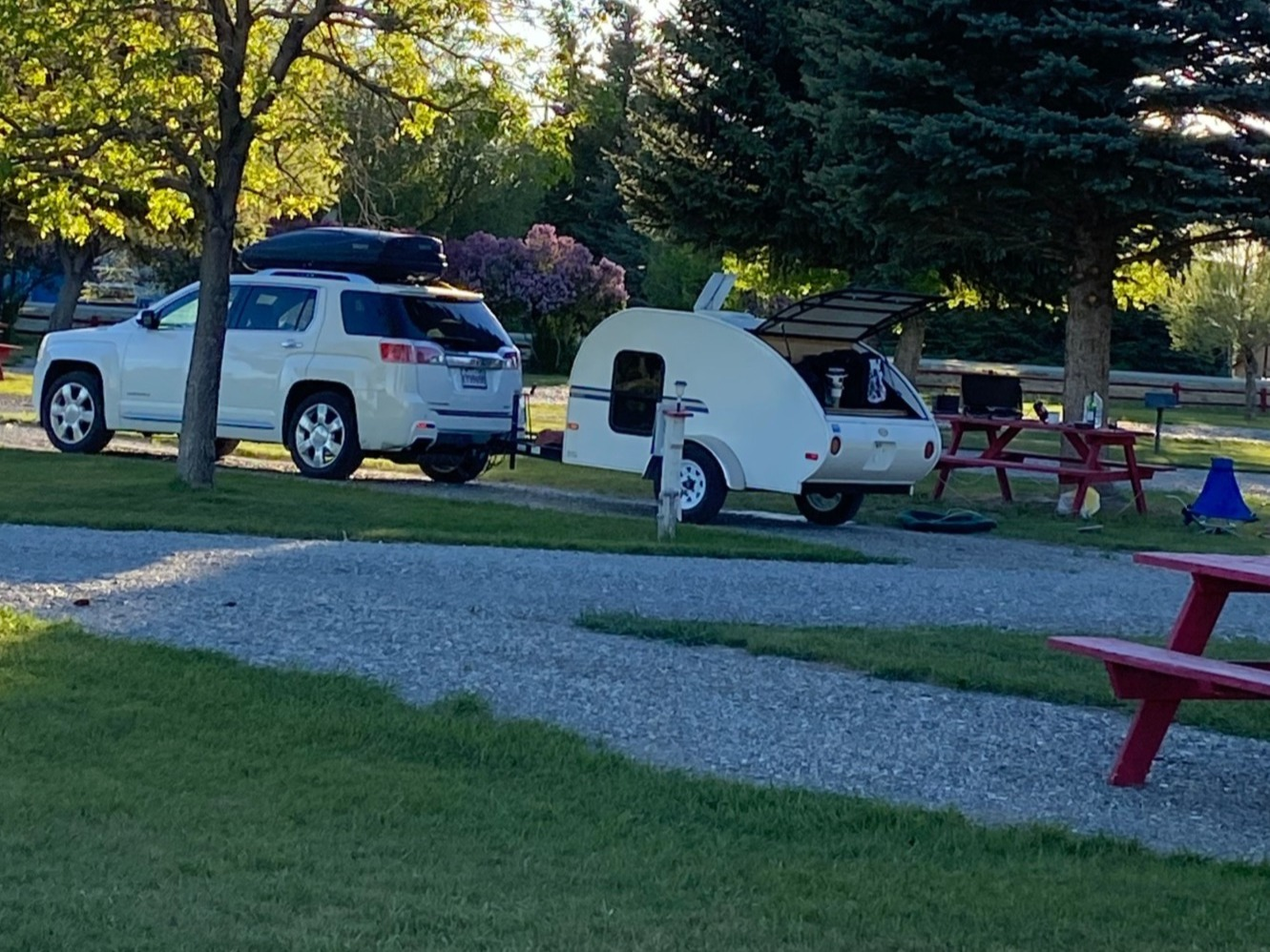 Easy set up at campground.. Little Guy Econ 2010