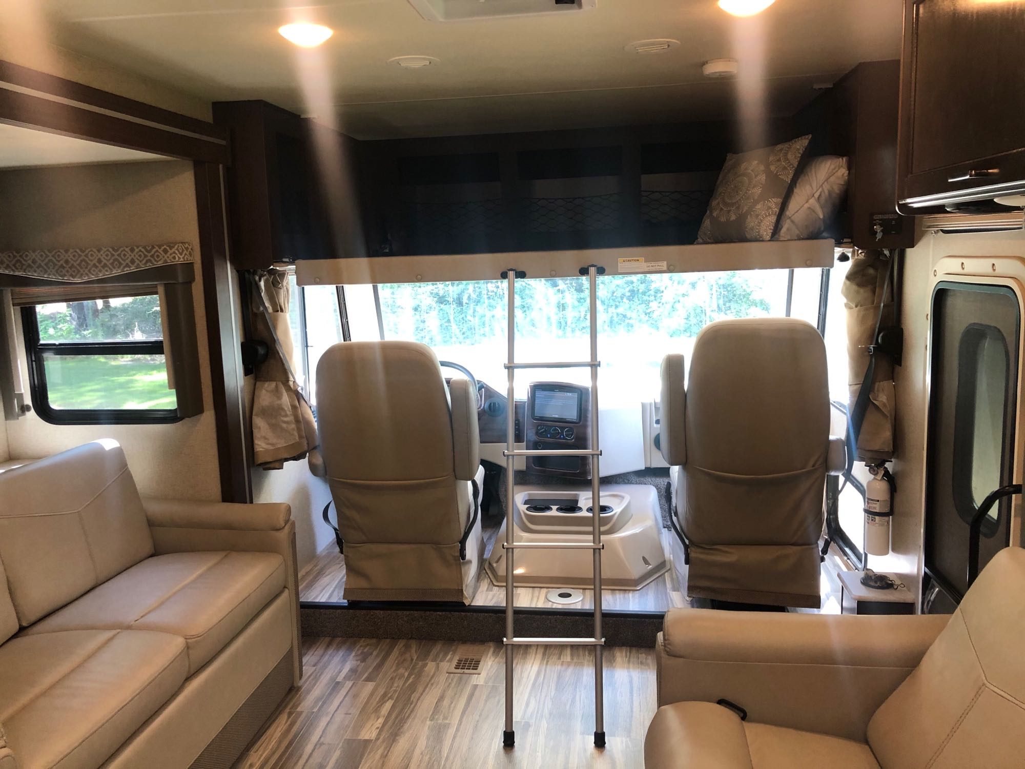 Cabin and Bunk Full Size Bed. Thor Motor Coach A.C.E 2020