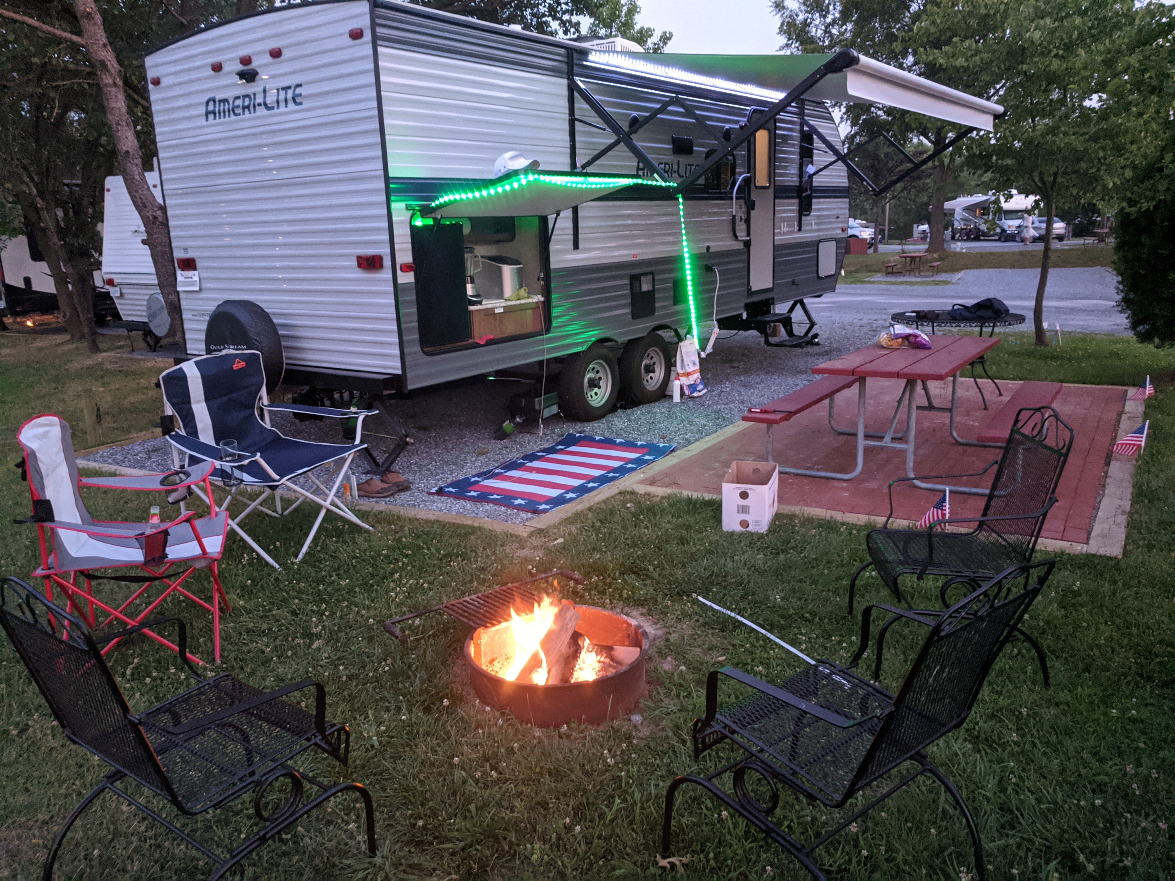 Set up for 4th of July weekend!. Gulf Stream Amerilite 2020