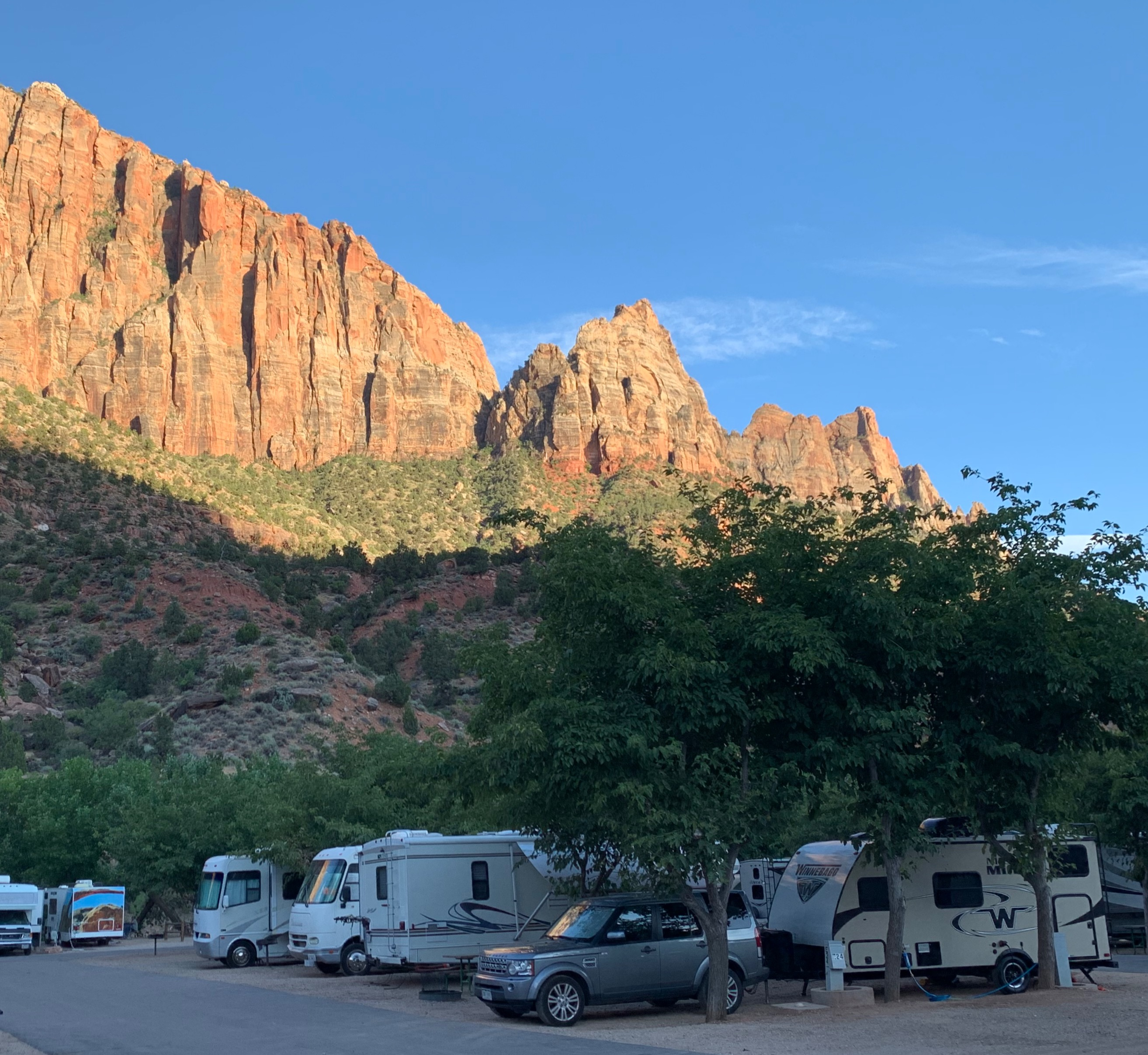 Zion Canyons Campground. Winnebago Micro Minnie 2019