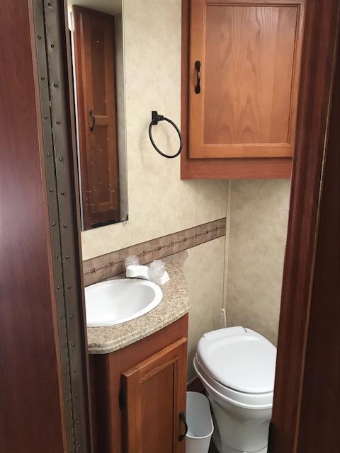 Bathroom. Coachmen Freelander 2013