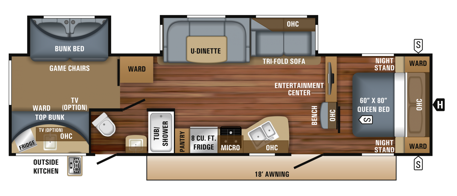 Floor Plan. Jayco EAGLE 2018