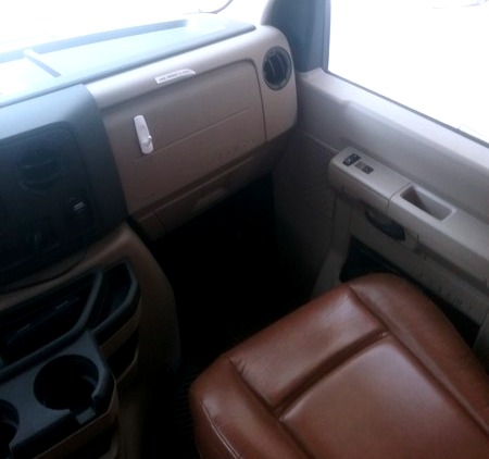 Comfortable passenger seat. Forest River Forester 2014