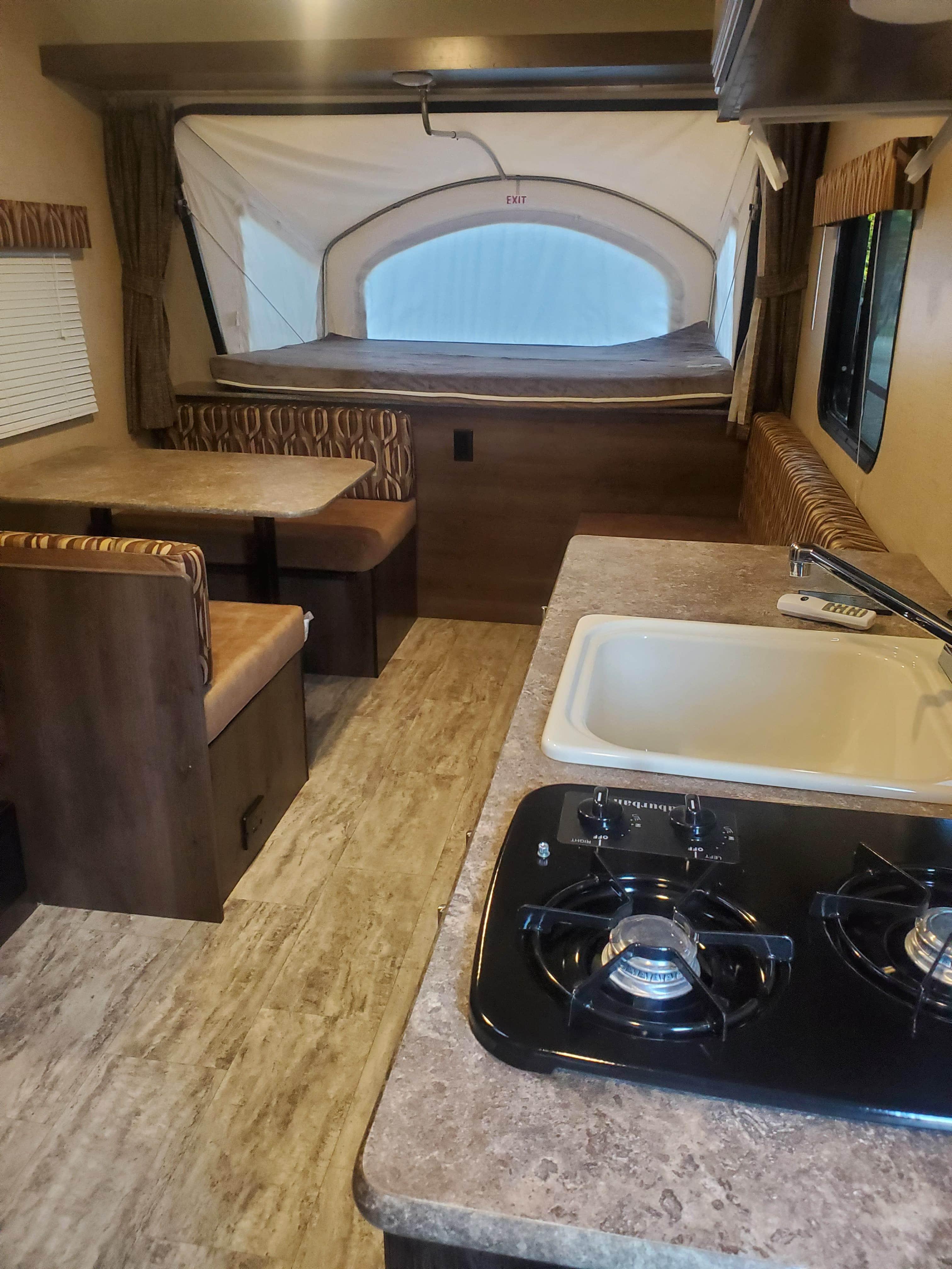 Dining Area and Kitchen. 2019 Sportsmen Travel Trailer 160RBT Sportsmen 20 2019