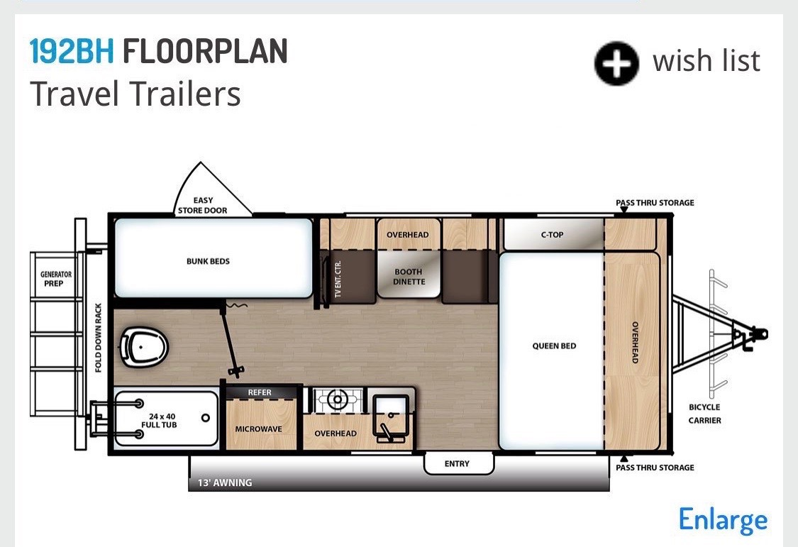 floor plan. Coachmen Catalina 2020