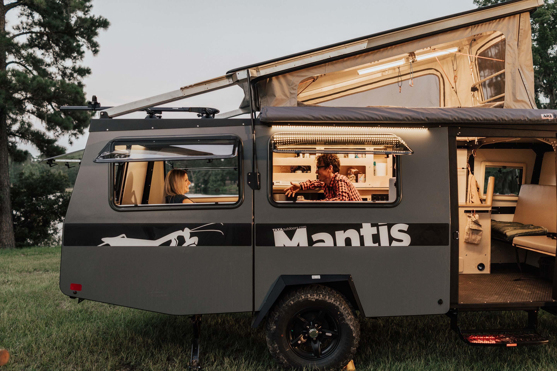 Beautiful lighting. TAXA Outdoors Mantis Camper 2020