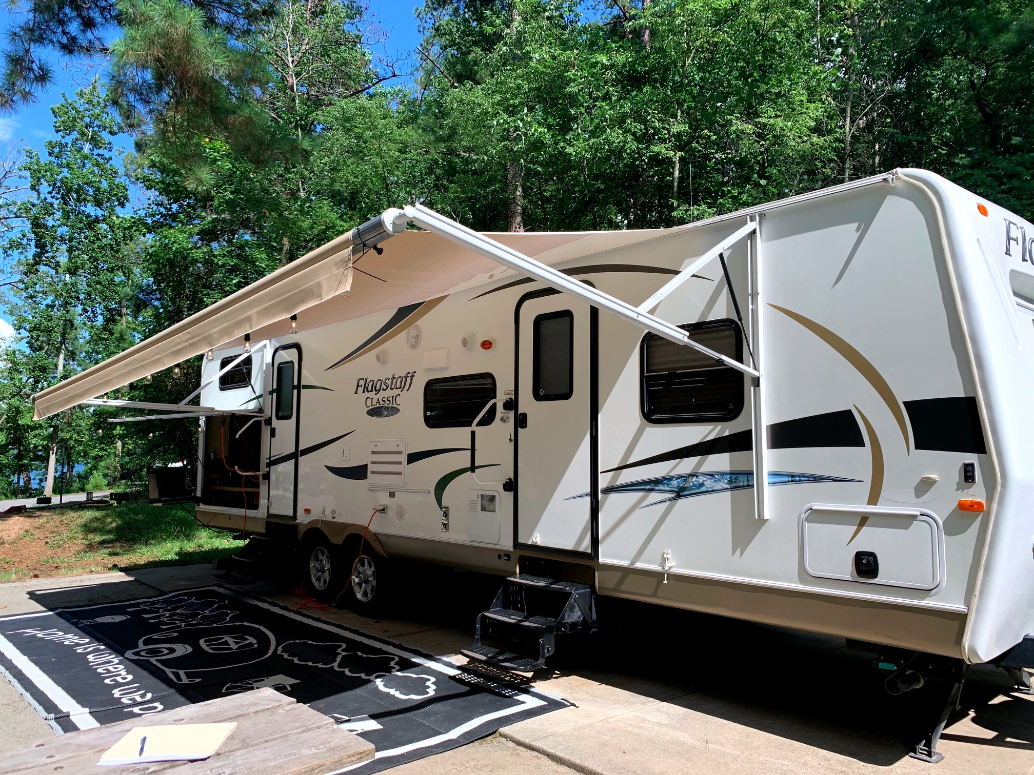 Home is where we park it. Forest River Flagstaff M831BHDS 2012