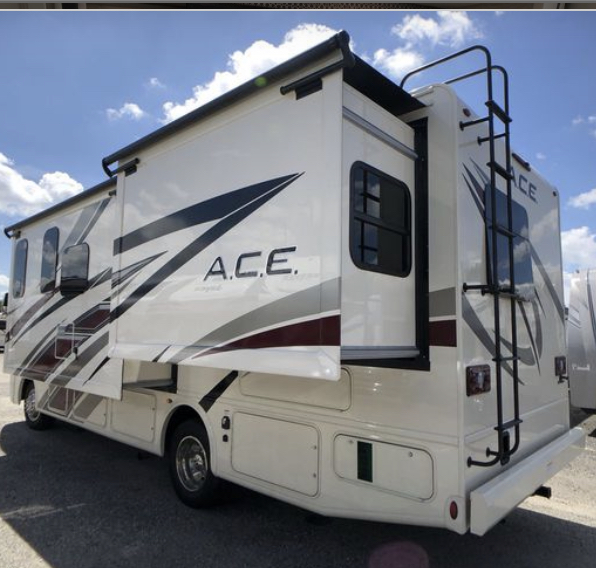 Utility Side Bedroom and Kitchen Slideout. Thor Motor Coach A.C.E 2020