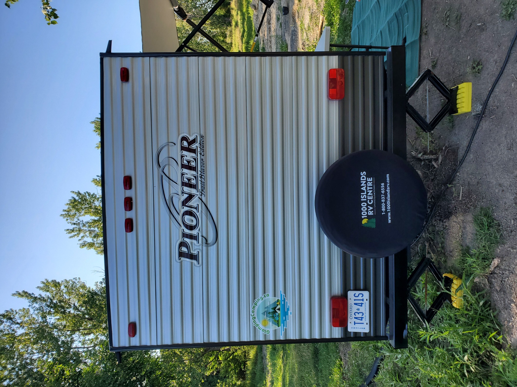 Easy spare tire location. Heartland Pioneer 2019