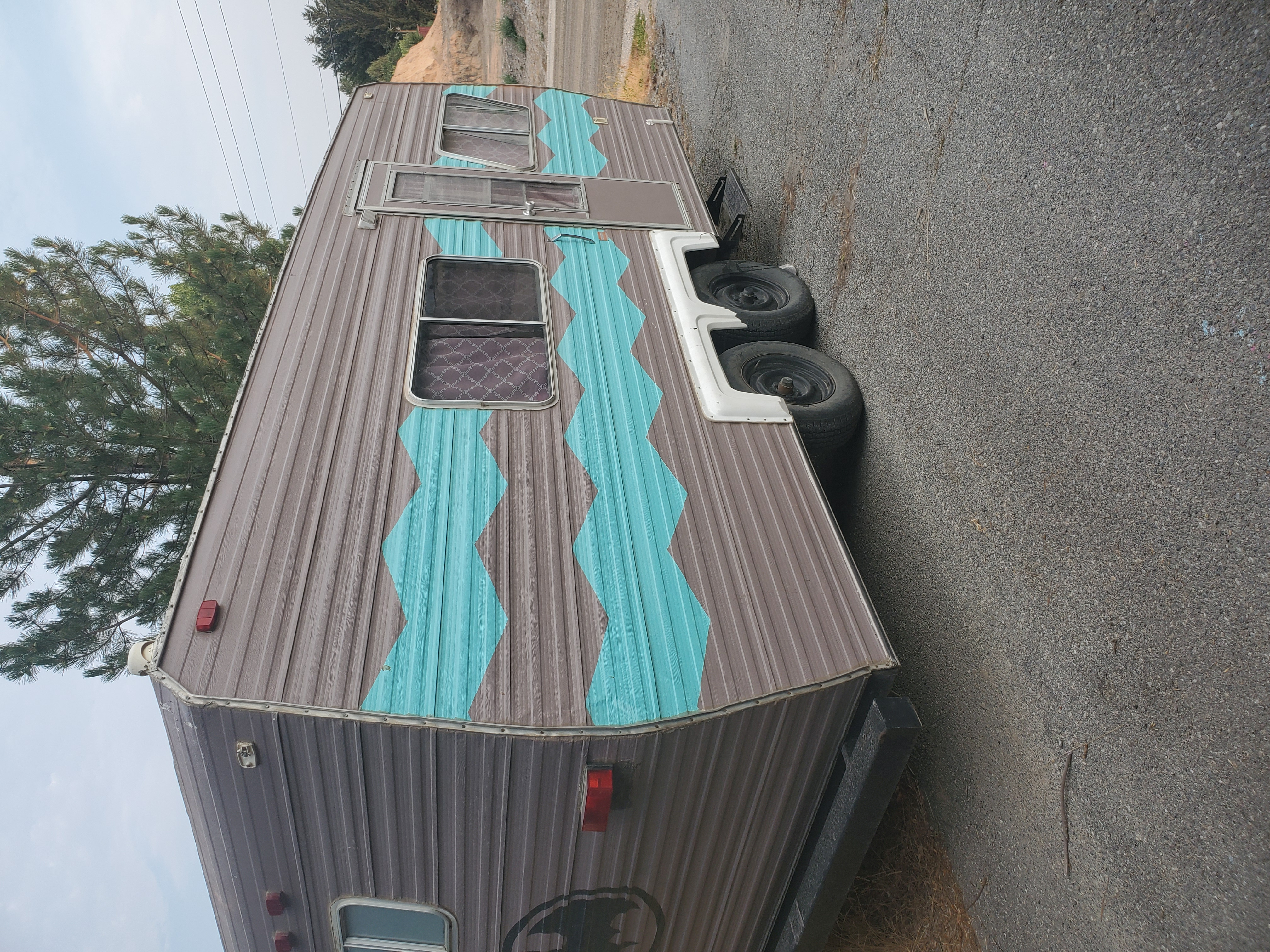 Exterior Side. Adventure Campers Colonial camper 1981