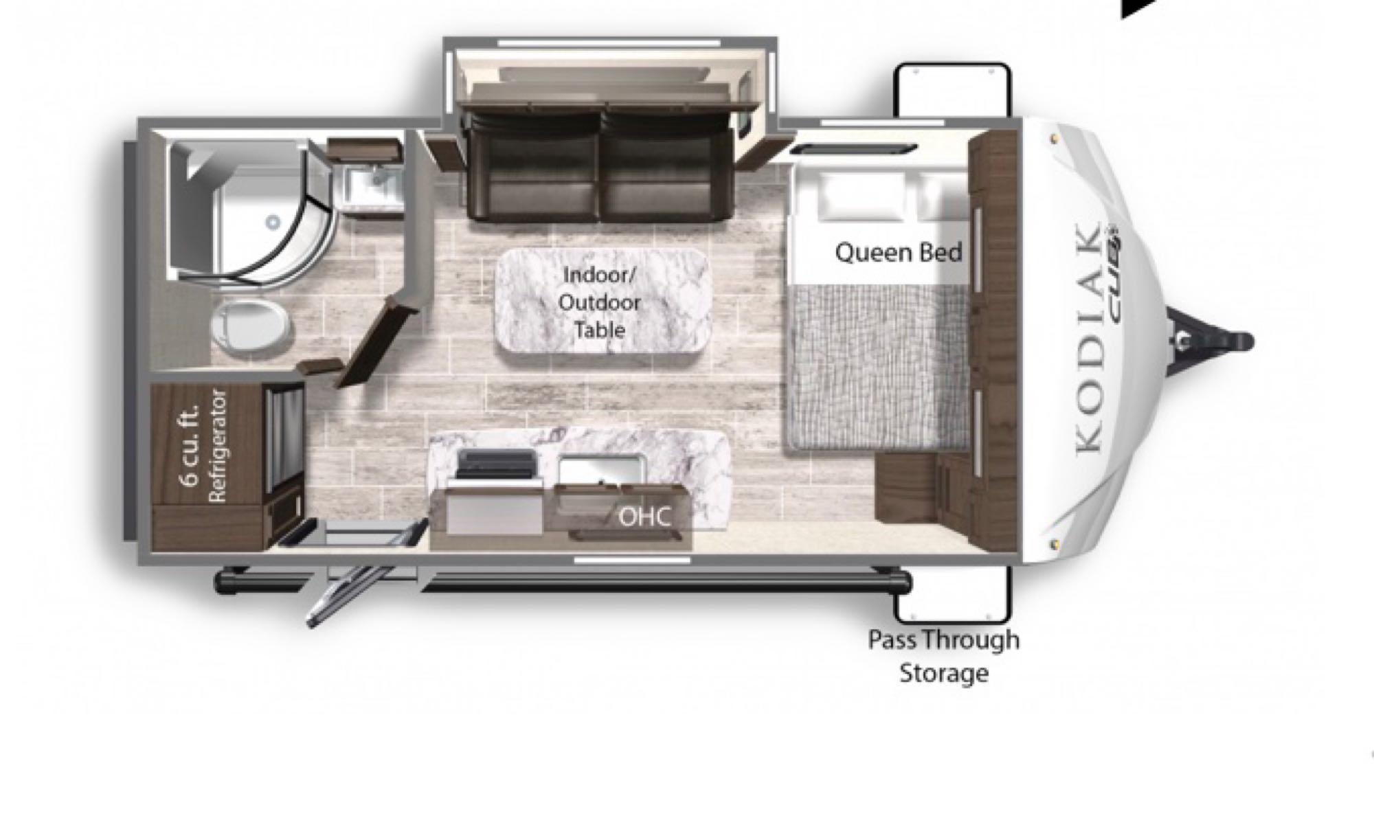 Floor Plan. Dutchmen Kodiak Cub 178RB 2020