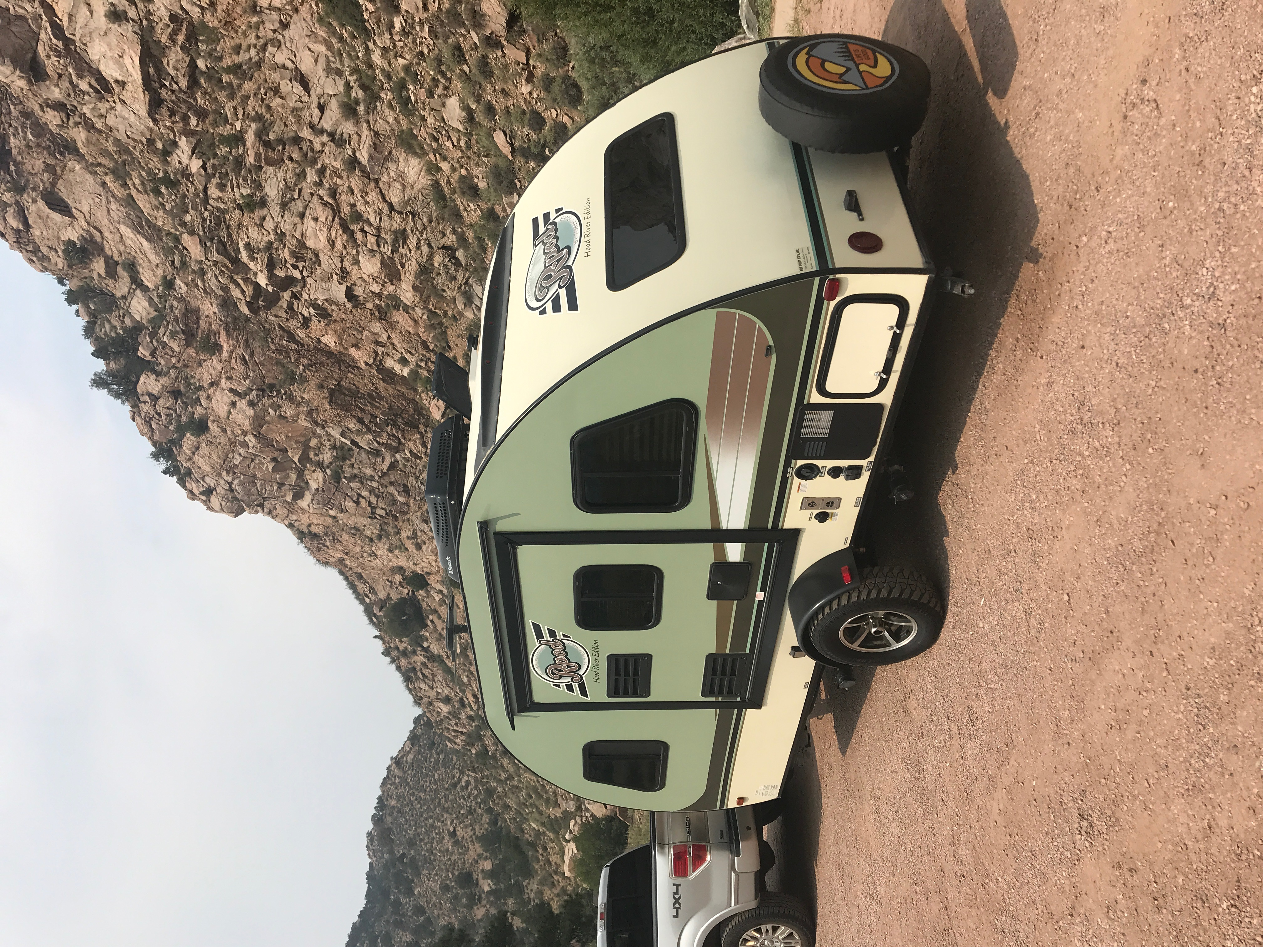 On the road with this fun camper! Perfect for exploring the mountains.... Forest River R-Pod 2015