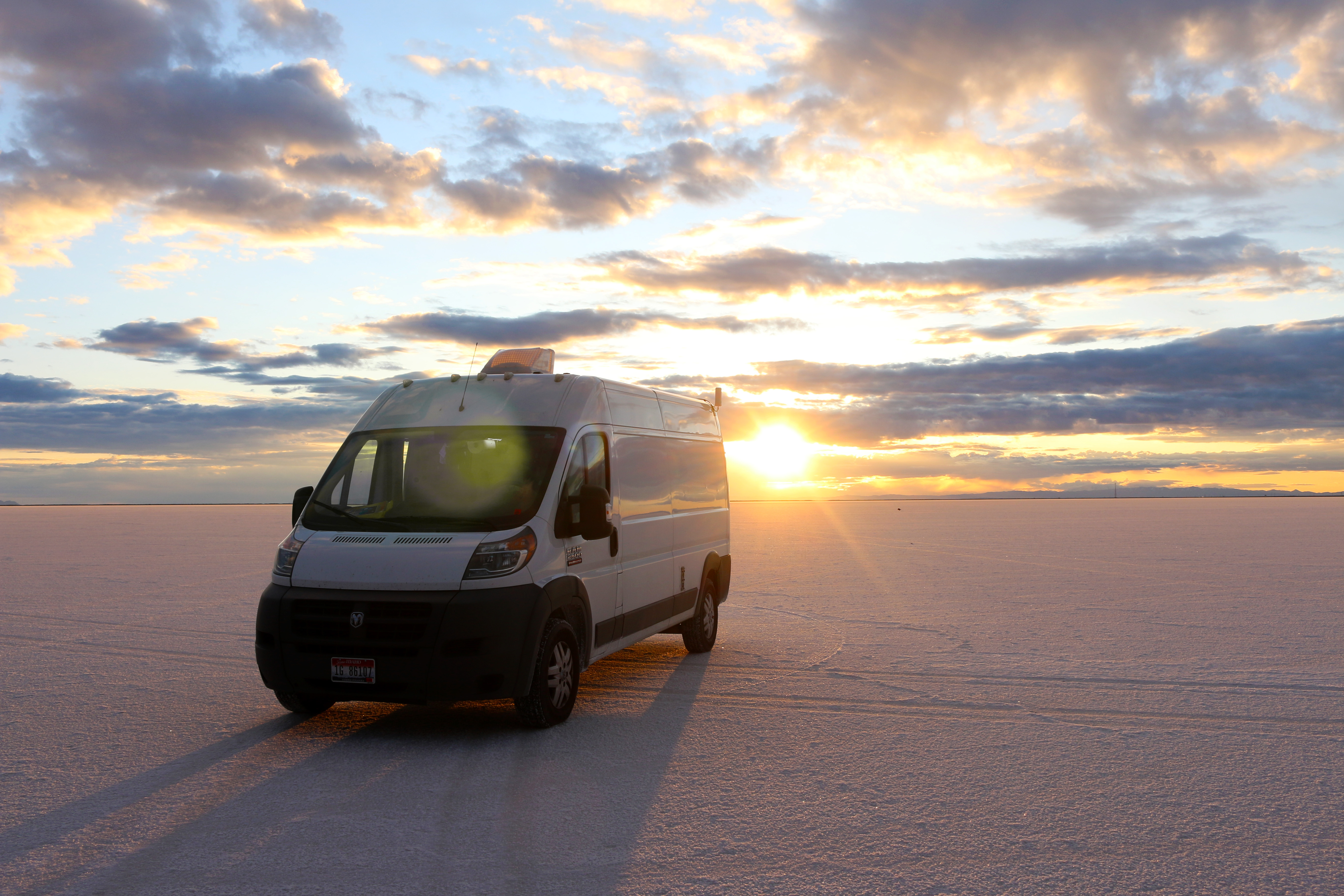 Looking cute at the Salt Flats. Ram Promaster 2014