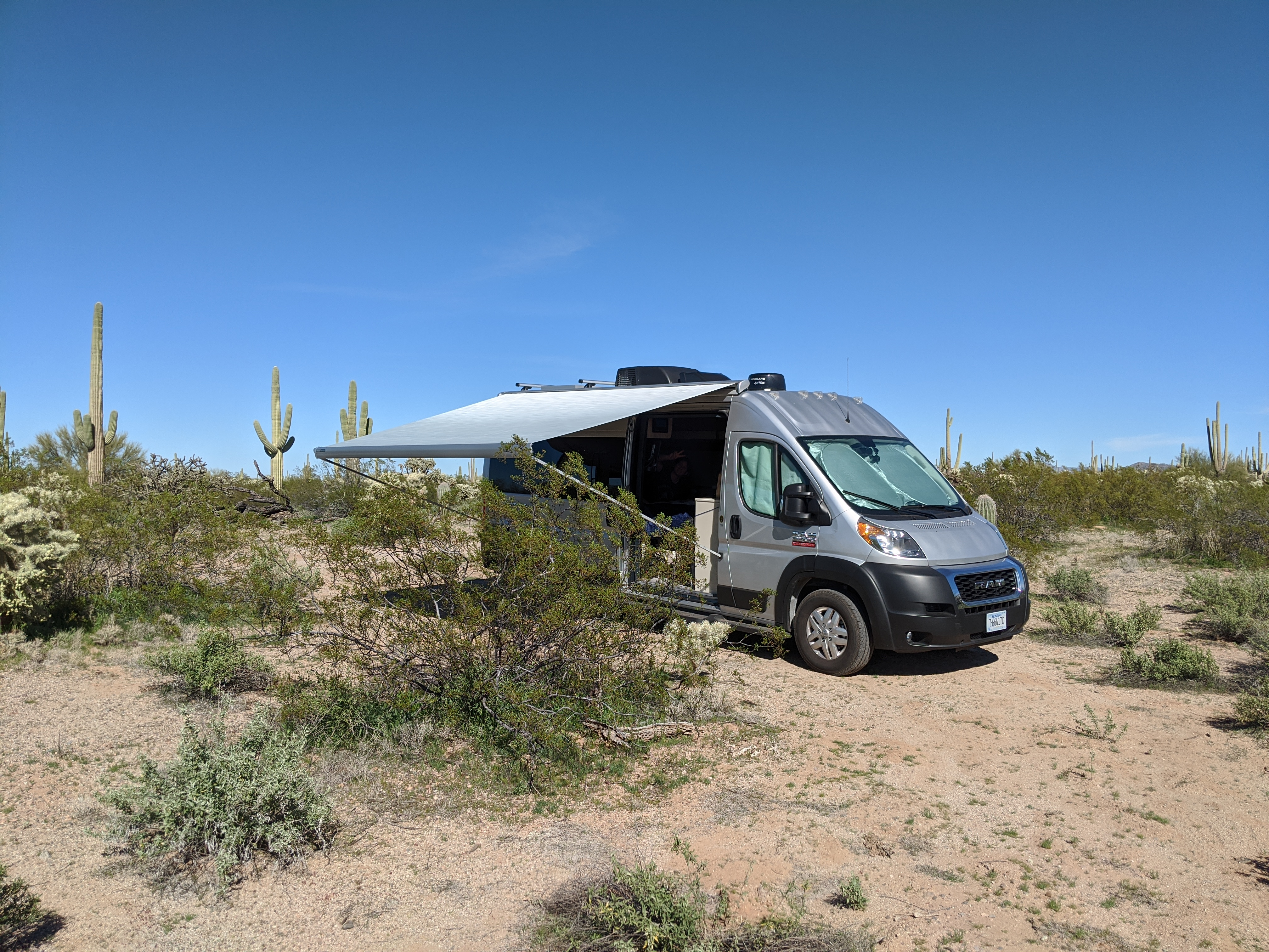 Deserts of Arizona. Thor Motor Coach Sequence 20L 2020