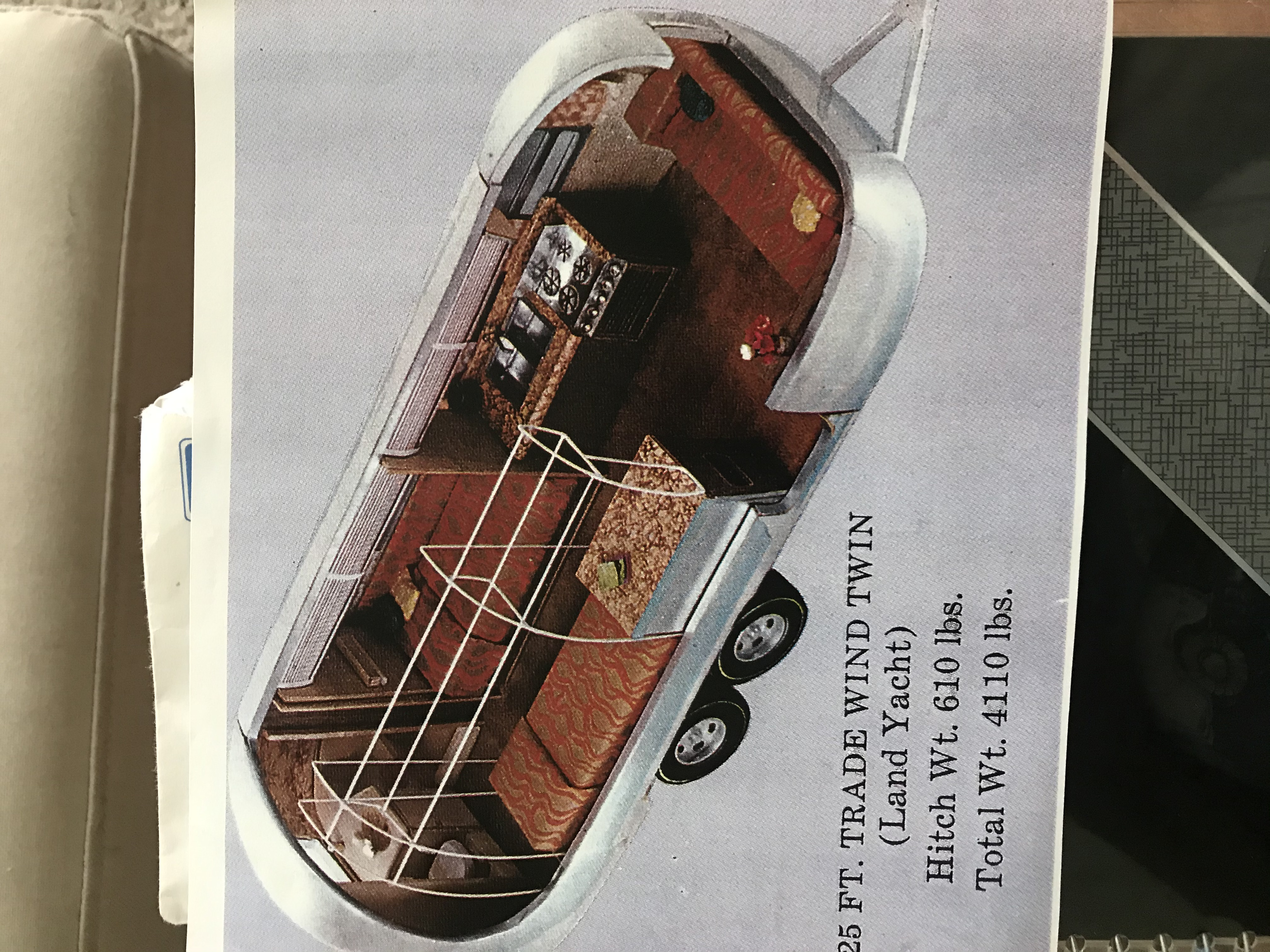 floor plan as pictured in owners manual. Airstream Land Yacht 1975