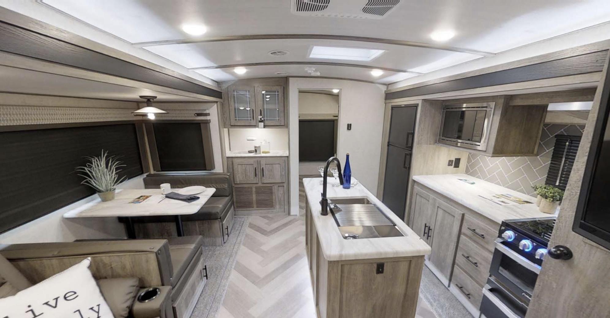 Huge kitchen with island. Forest River Salem Hemisphere 2020