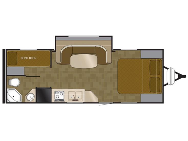 Floor plan. Heartland Wilderness 2013