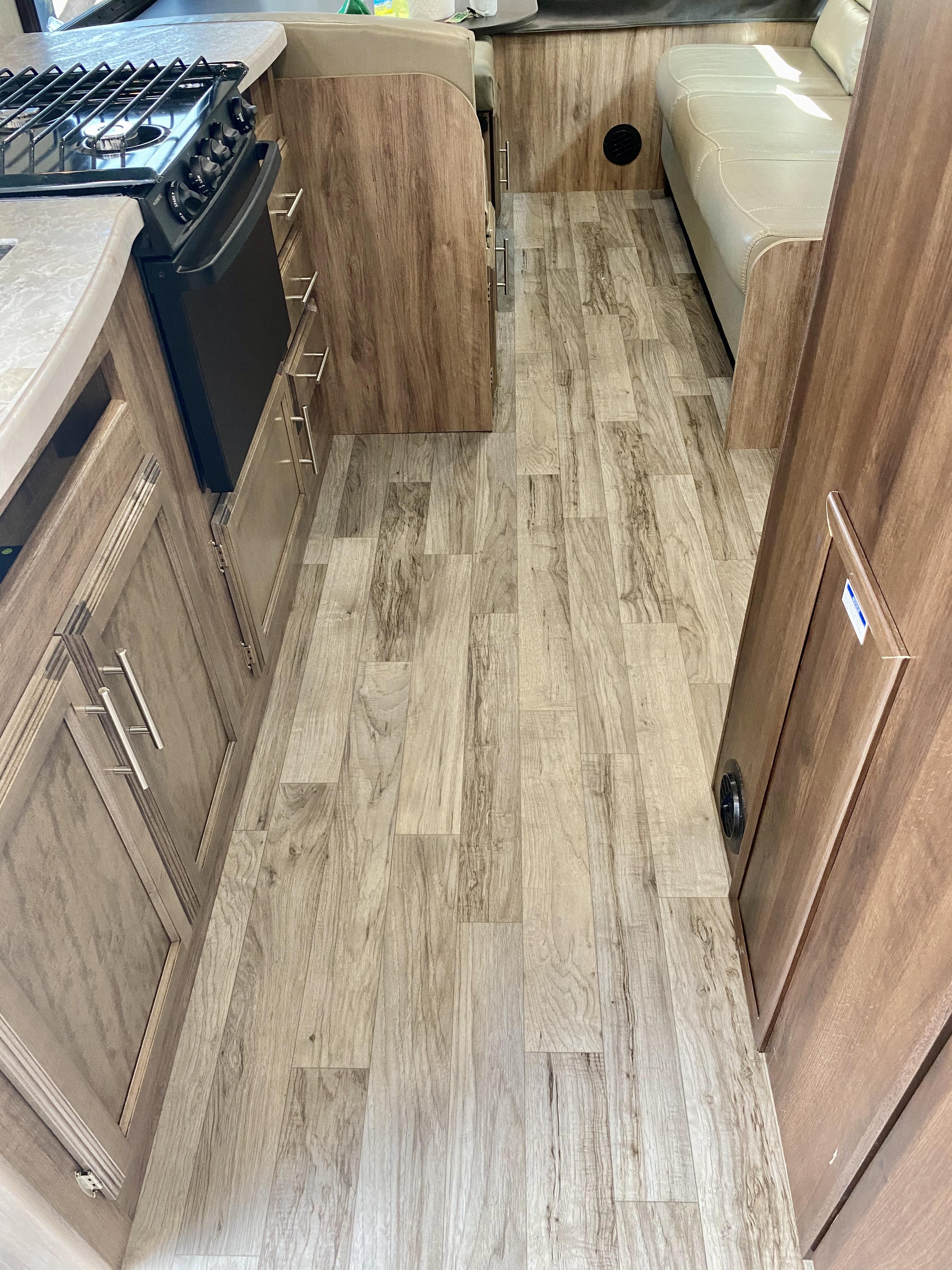 Nice LVP easy care floor. Jayco Jay Feather 2019