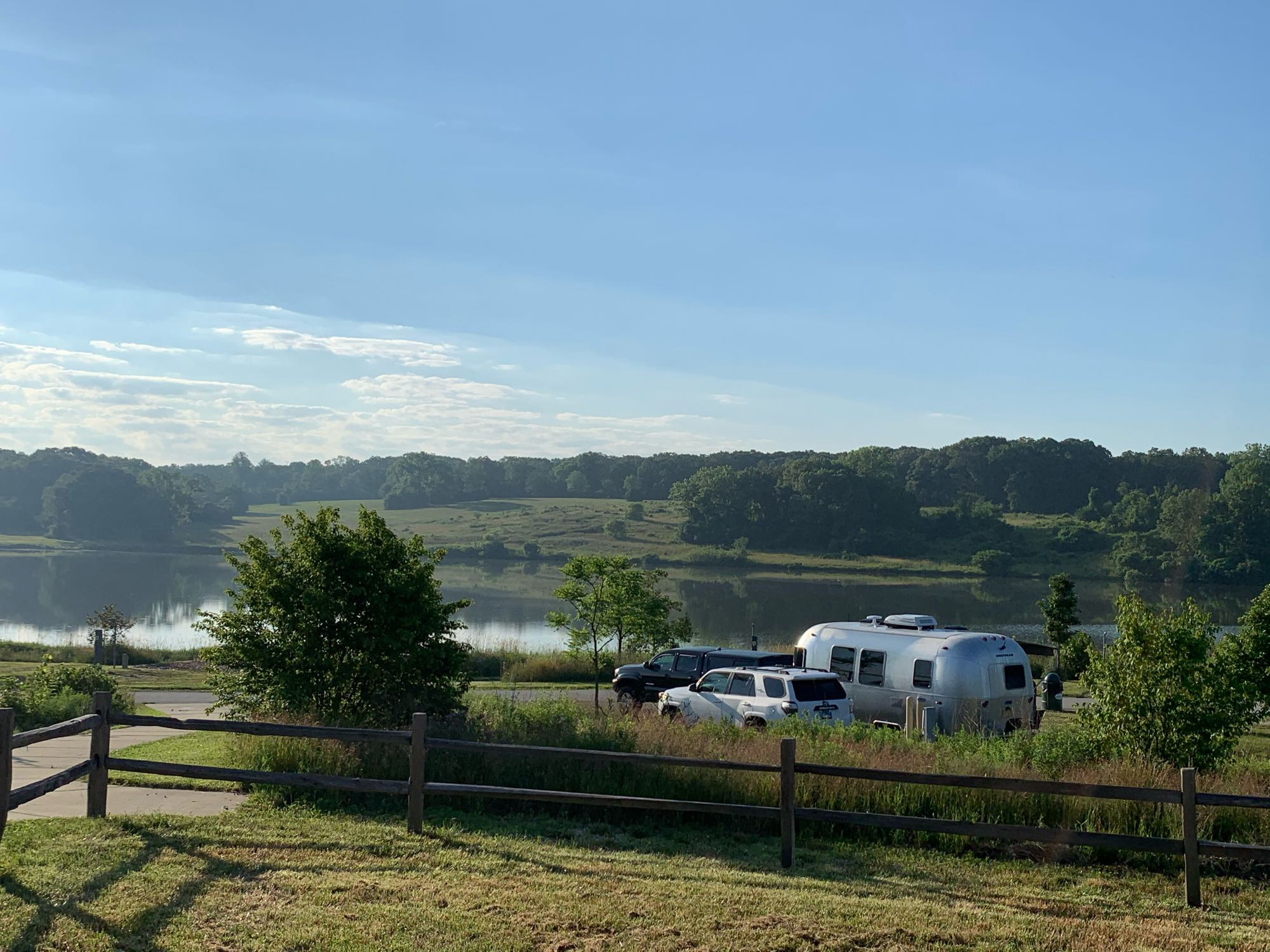 Camp Bullfrog Lake in Willow Springs, IL is a beautiful getaway that we can deliver to!. Airstream Bambi 2020