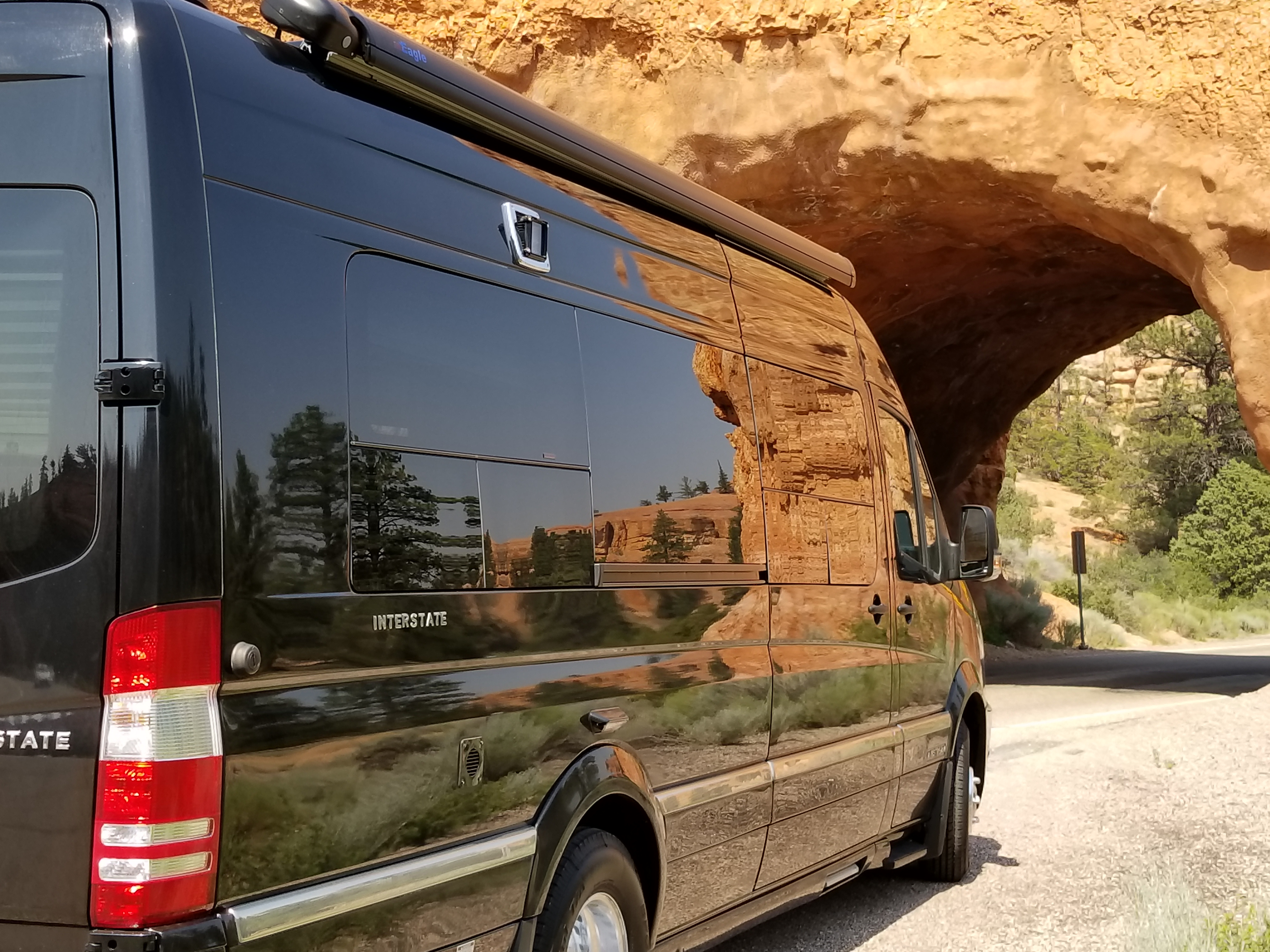 Red Canyon Natural Tunnel. AIRSTREAM INTERSTATE 2017