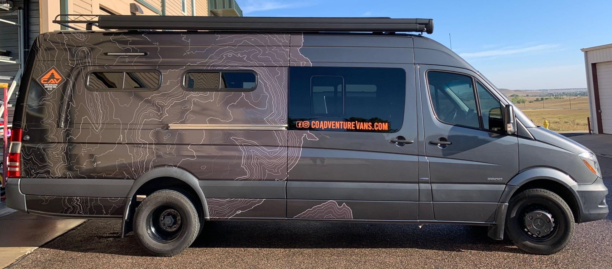 Passenger Side exterior. Mercedes-Benz Sprinter RV Motorhome Campervan 2016