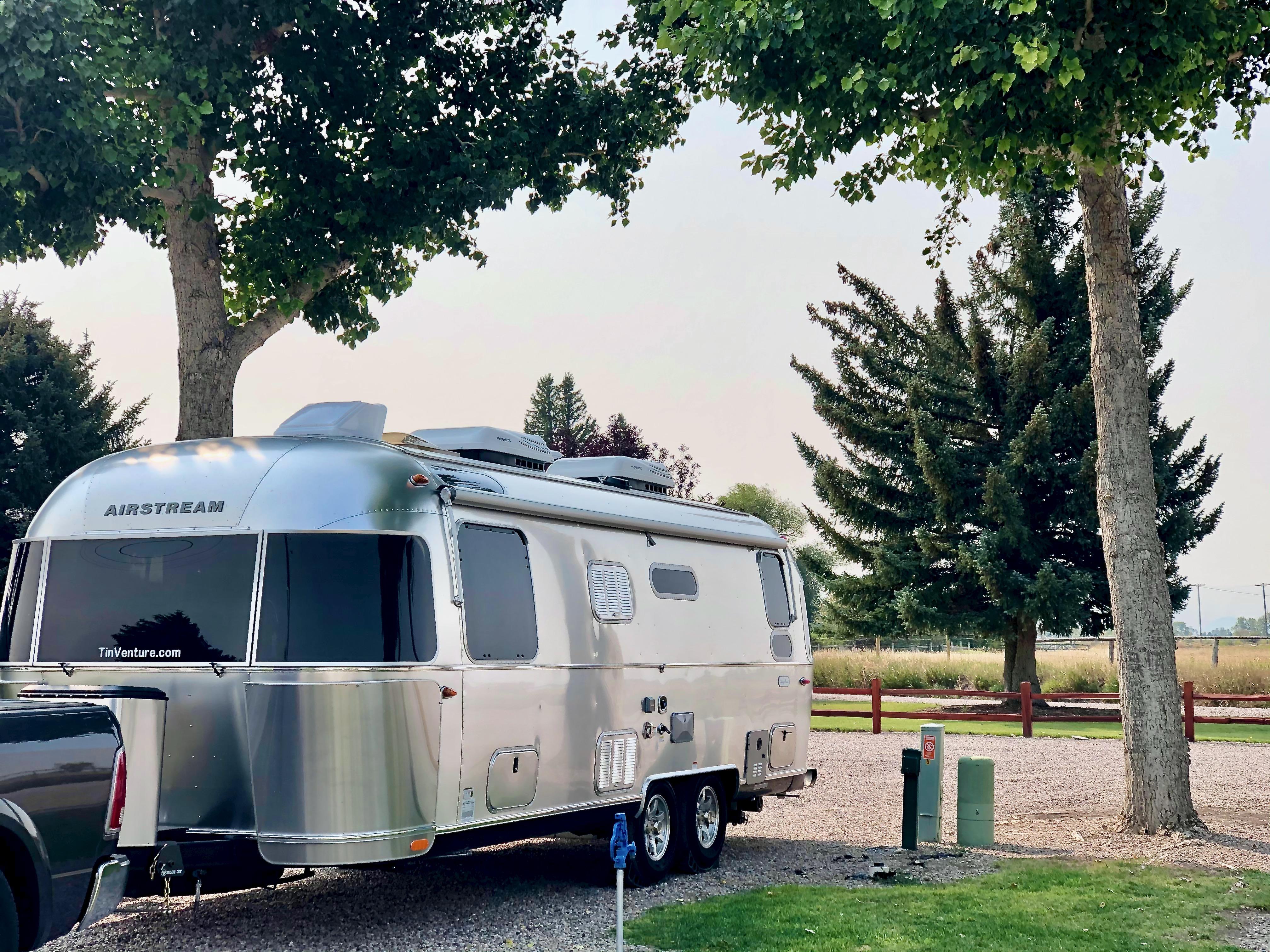 Tamarack RV Park in Couer d'Alene, Idaho. Airstream Flying Cloud 2021