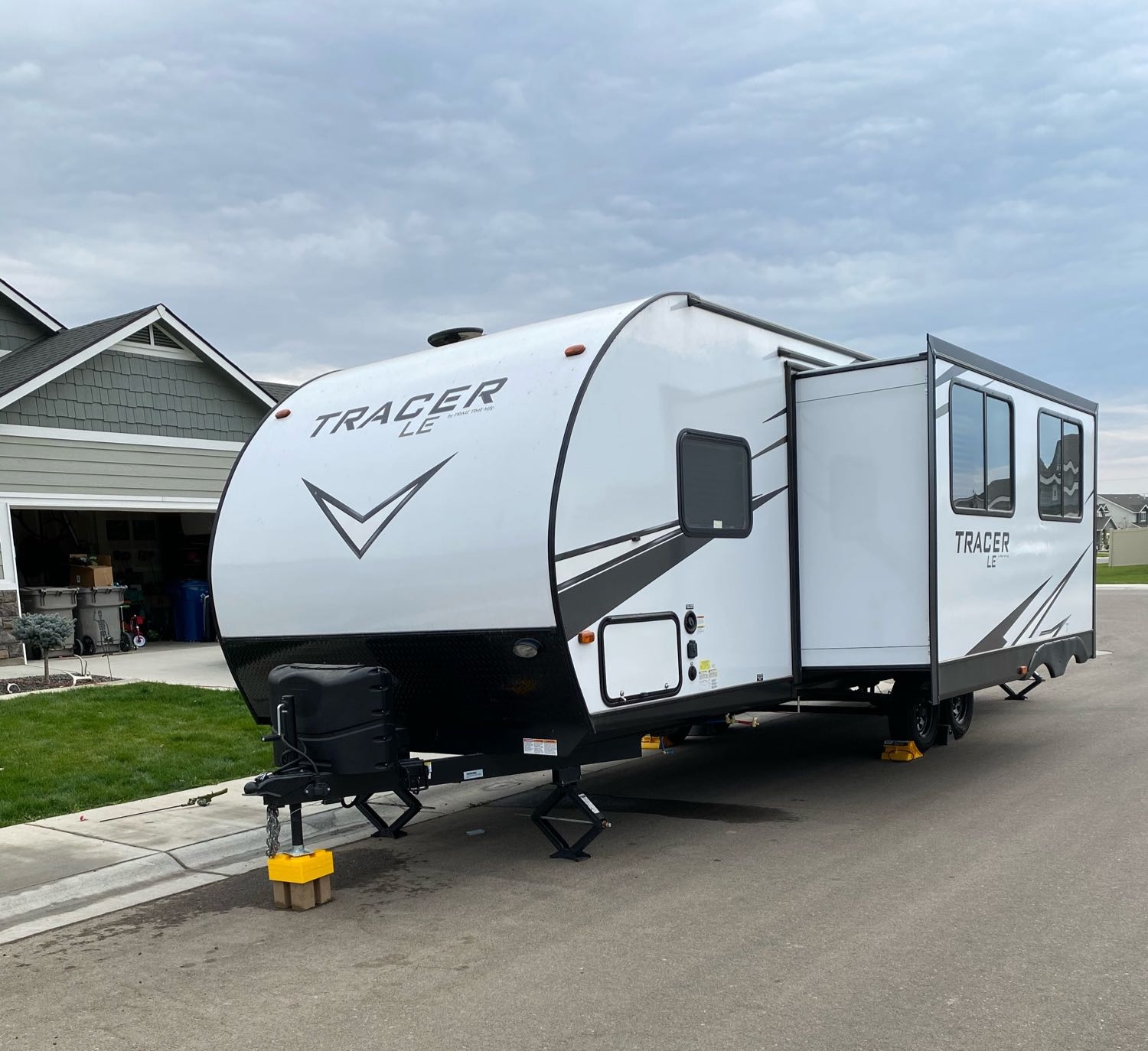 Exterior with slide out. Forest River Tracer 2020