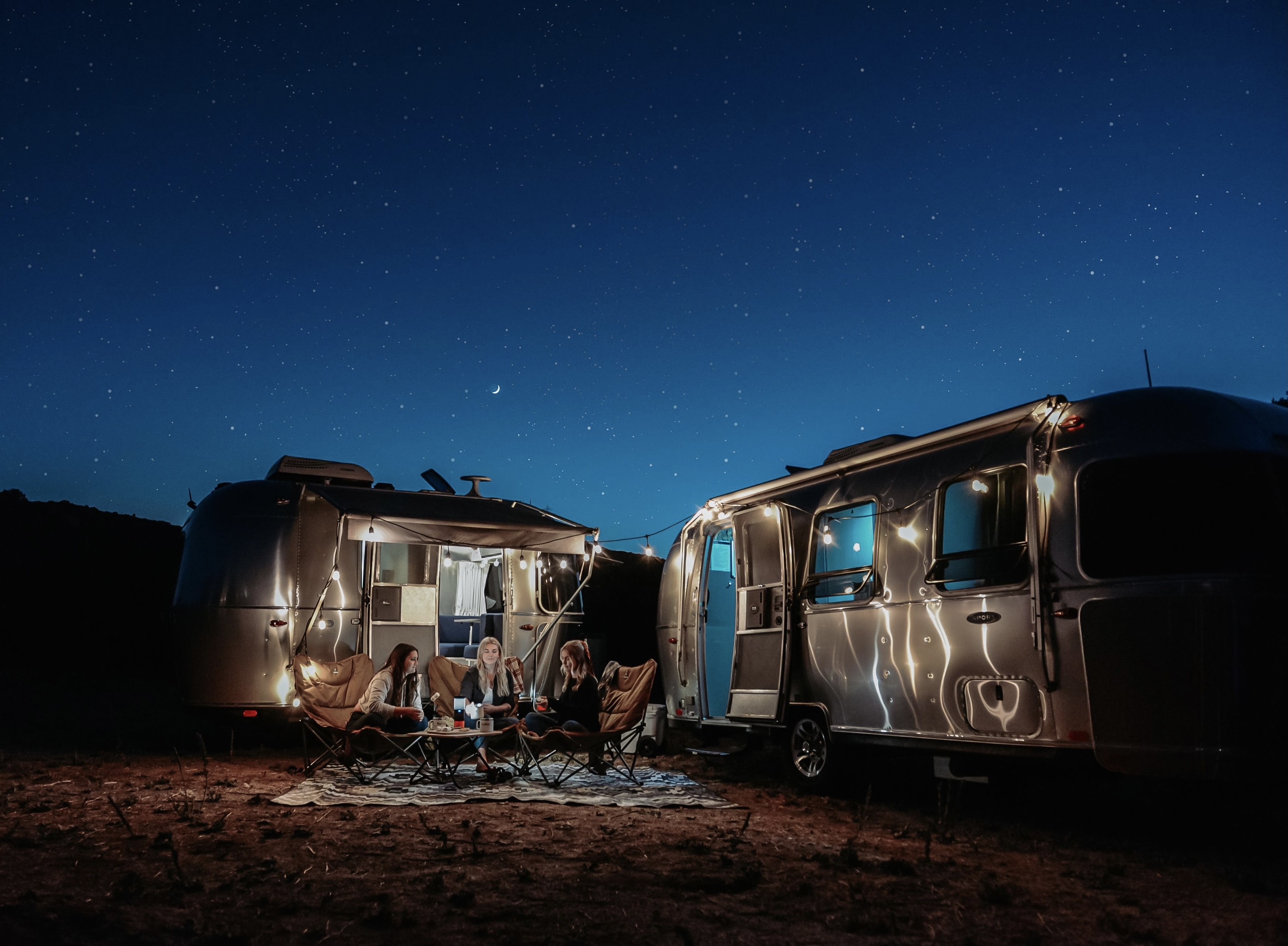 Sleep under the stars in luxury and comfort. Airstream Bambi 2020
