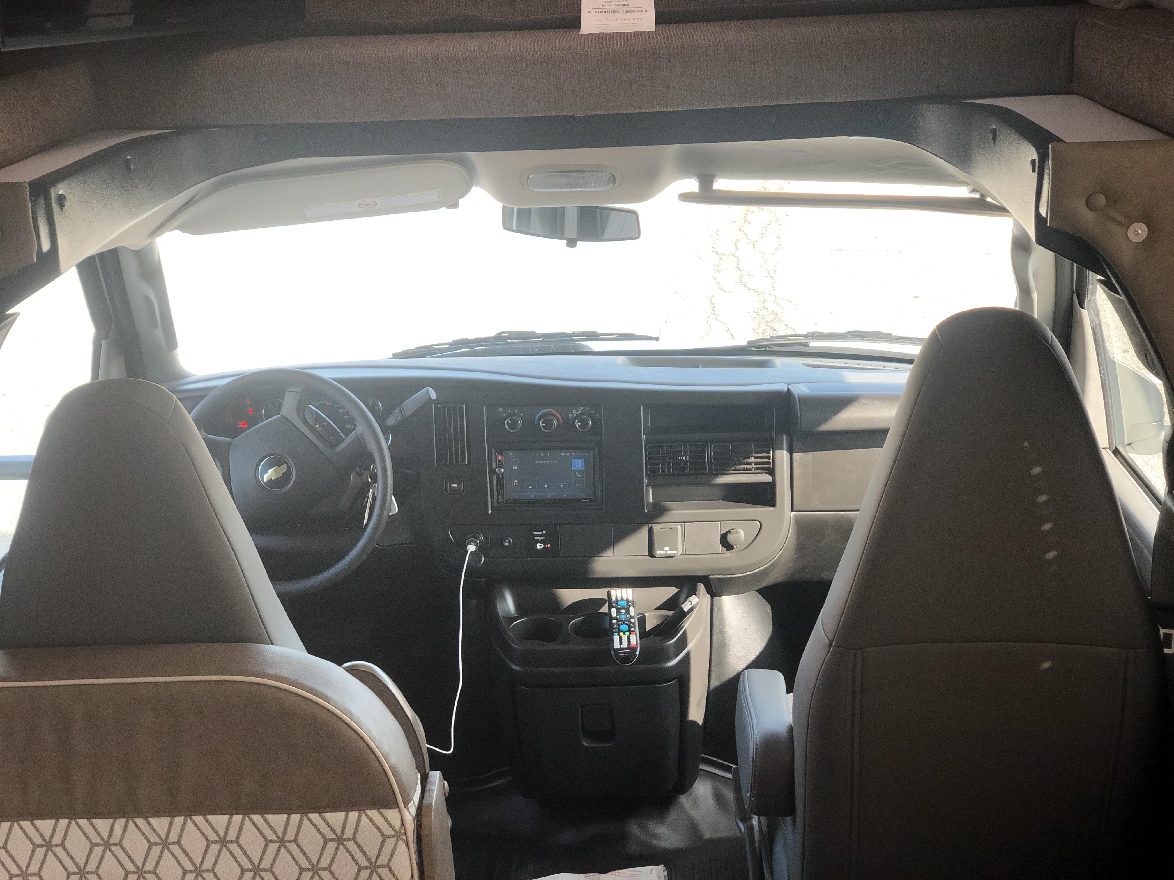 Driver Seat Area. Coachmen Freelander 2021