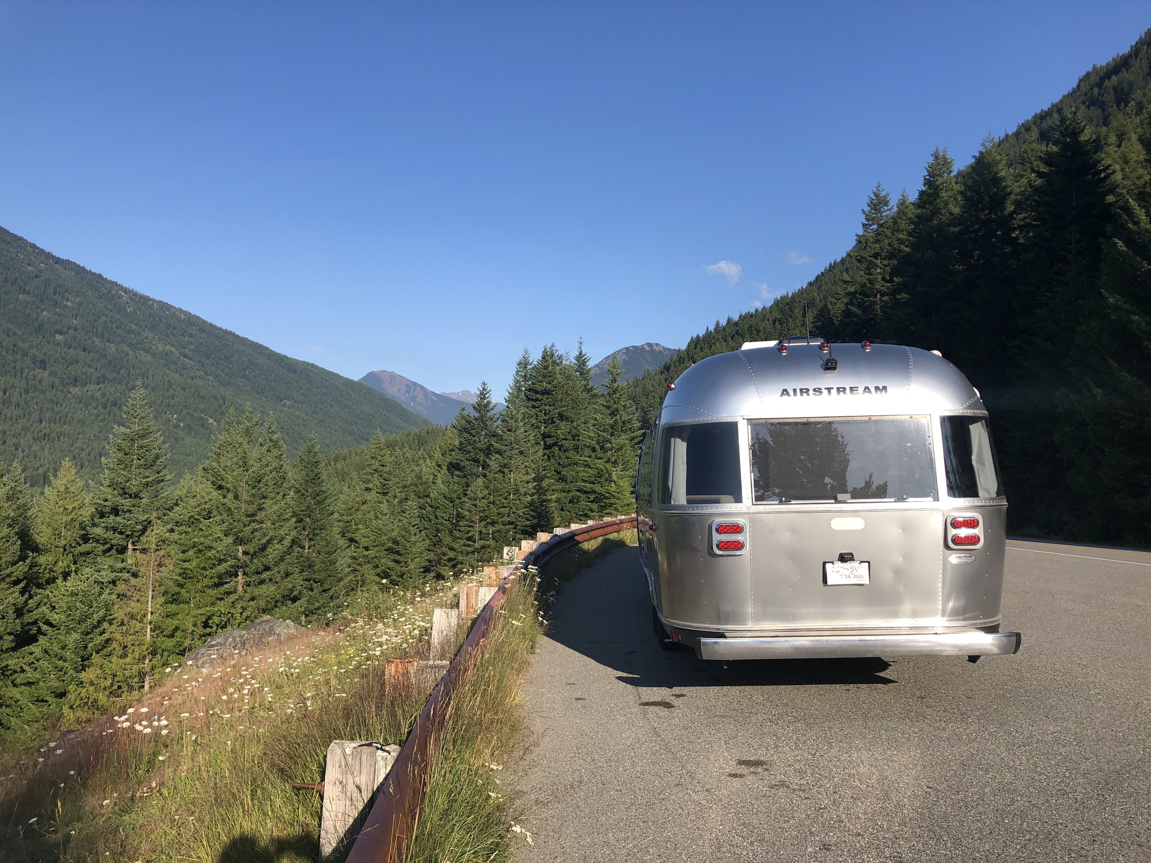 Ross Lake National Recreation Area, Washington State. Airstream Flying Cloud 2020