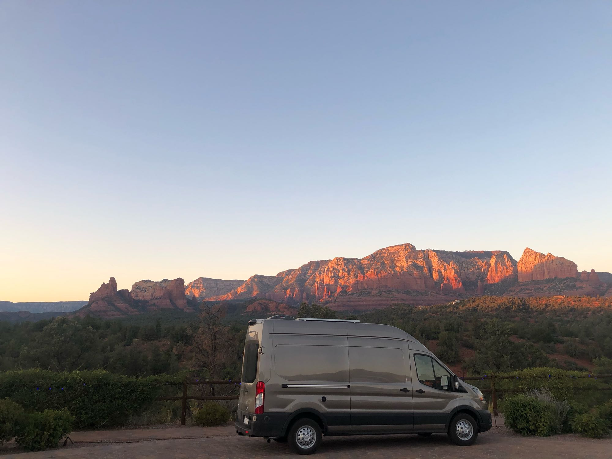 Sitting in front of a beautiful Sedona sunset!. Ford Transit 2020