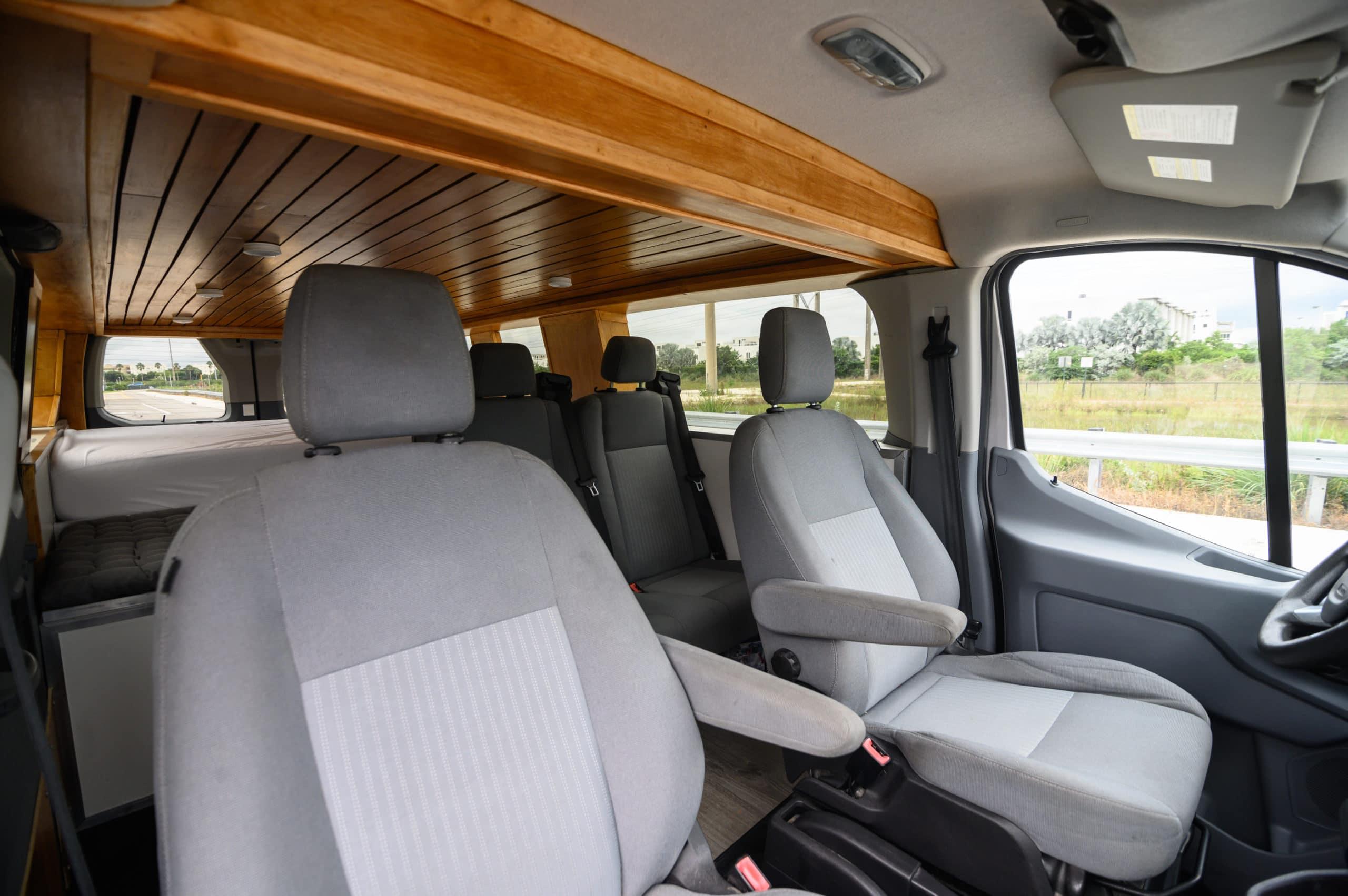 Seats 4 travelers. Ford Transit 2015