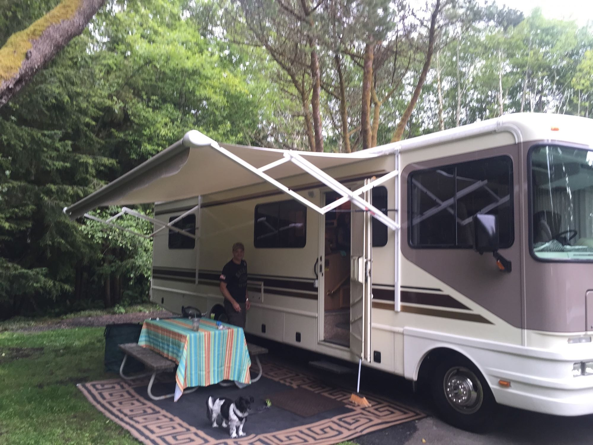 Nice large power awning (Sammy wanted in the picture). Fleetwood 32S 1997