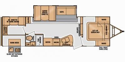 Floor plan. Cruiser Rv Corp Radiance 2015