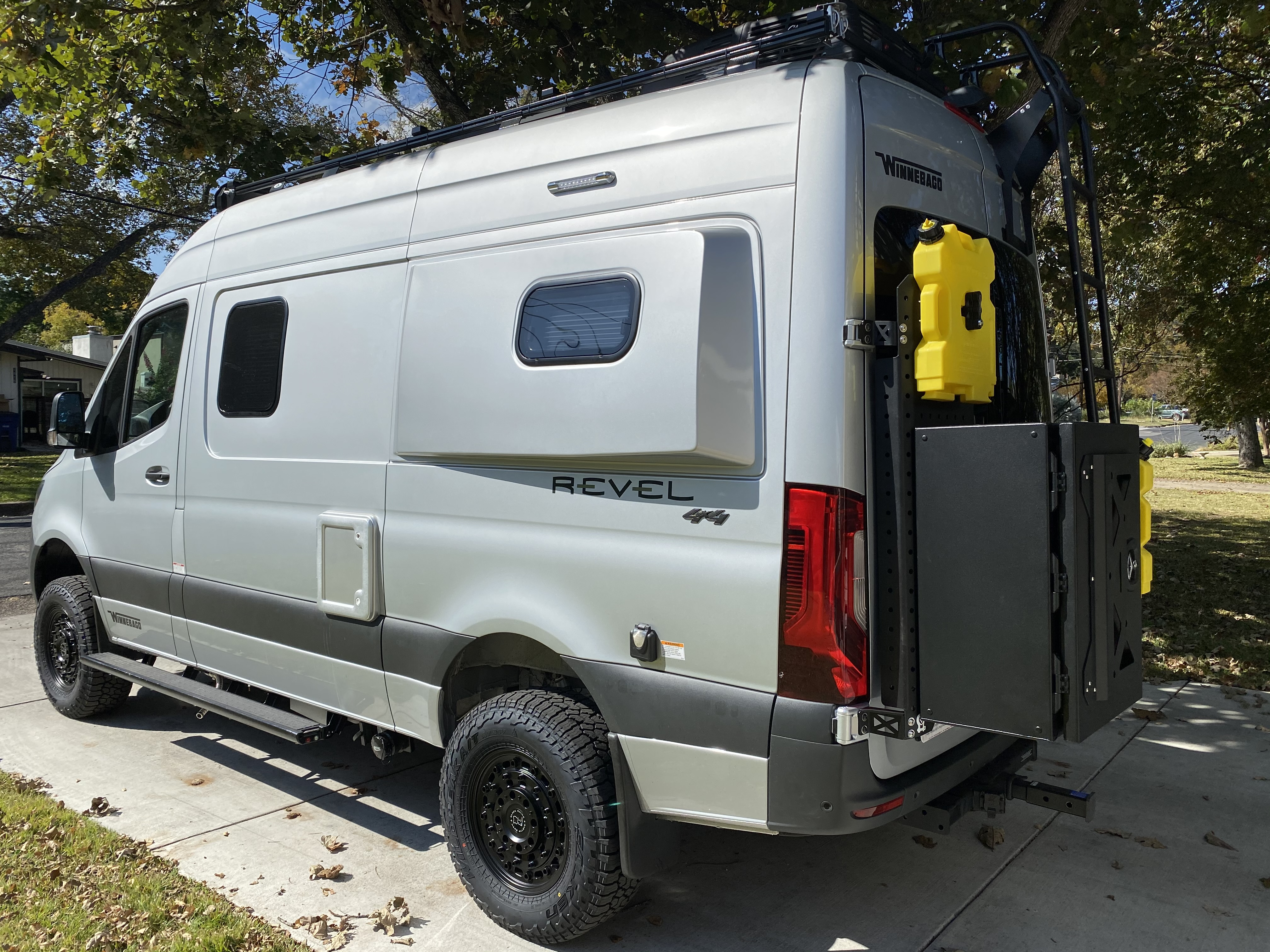 Exterior box keeps all the items to run the rv out of the van so you have more room! Also, diesel gas containers if wanted.  . Mercedes-Benz Sprinter 2021