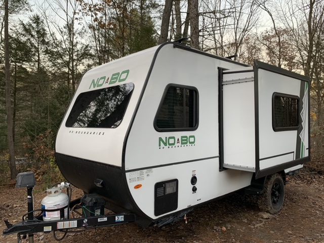 The slide out provides a surprising amount of room for such a lightweight easy towing trailer.. Forest River No Boundaries 16.8 2019
