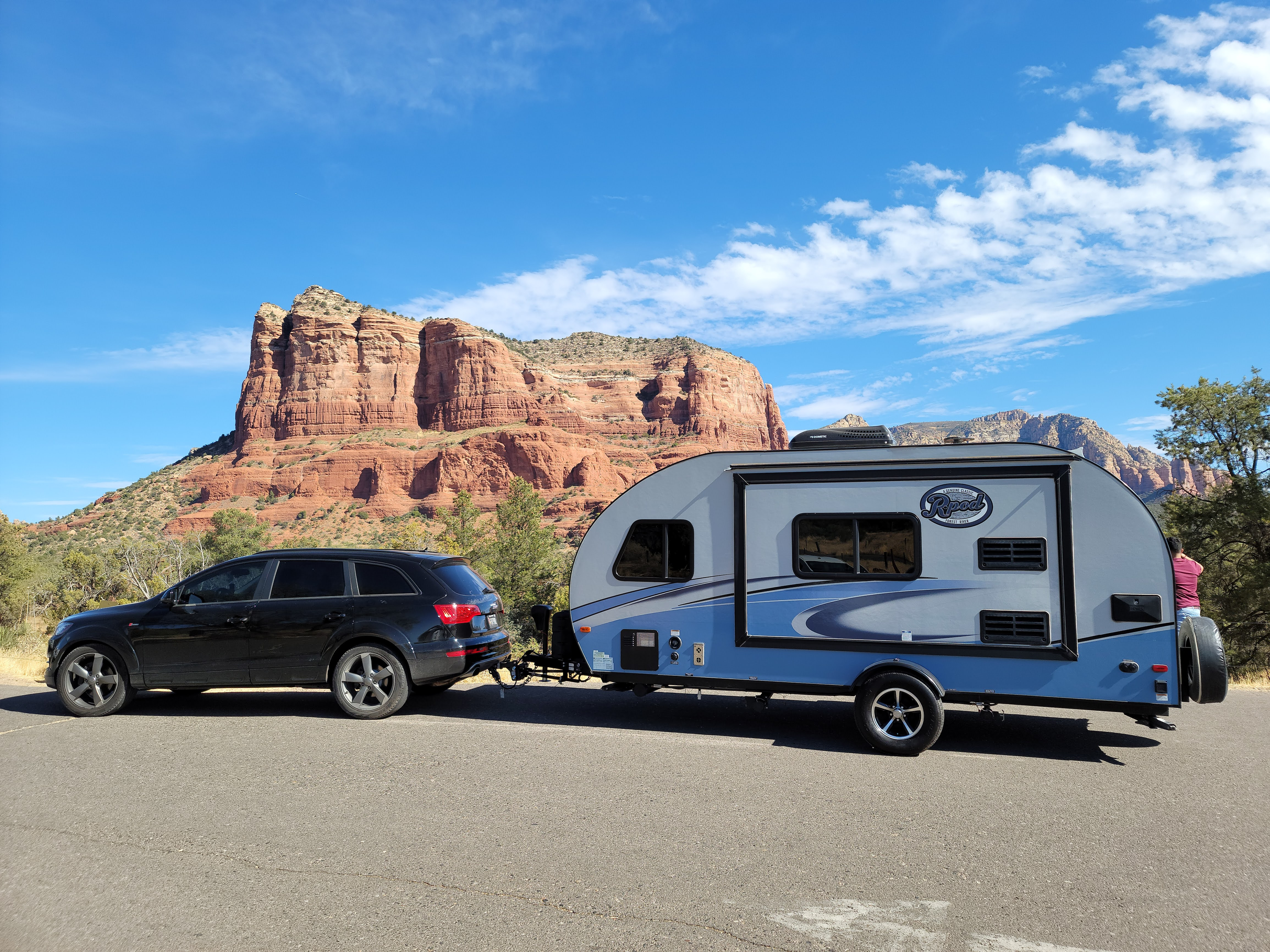 See the world from the comforts of your own SUV and Travel Trailer. Forest River R-Pod 2018