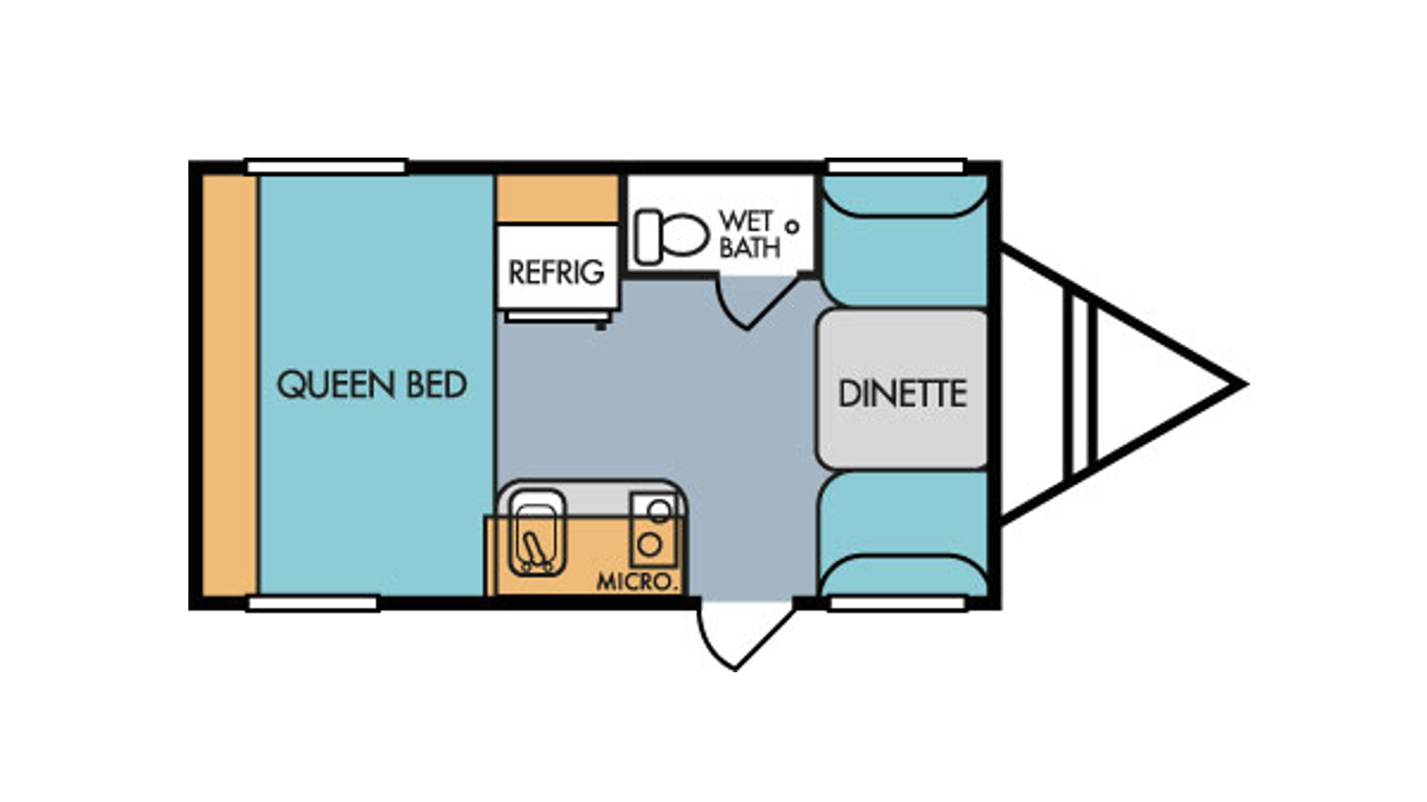 Don't forget the dinette folds down into a second bed!. Riverside Rv Retro 2018
