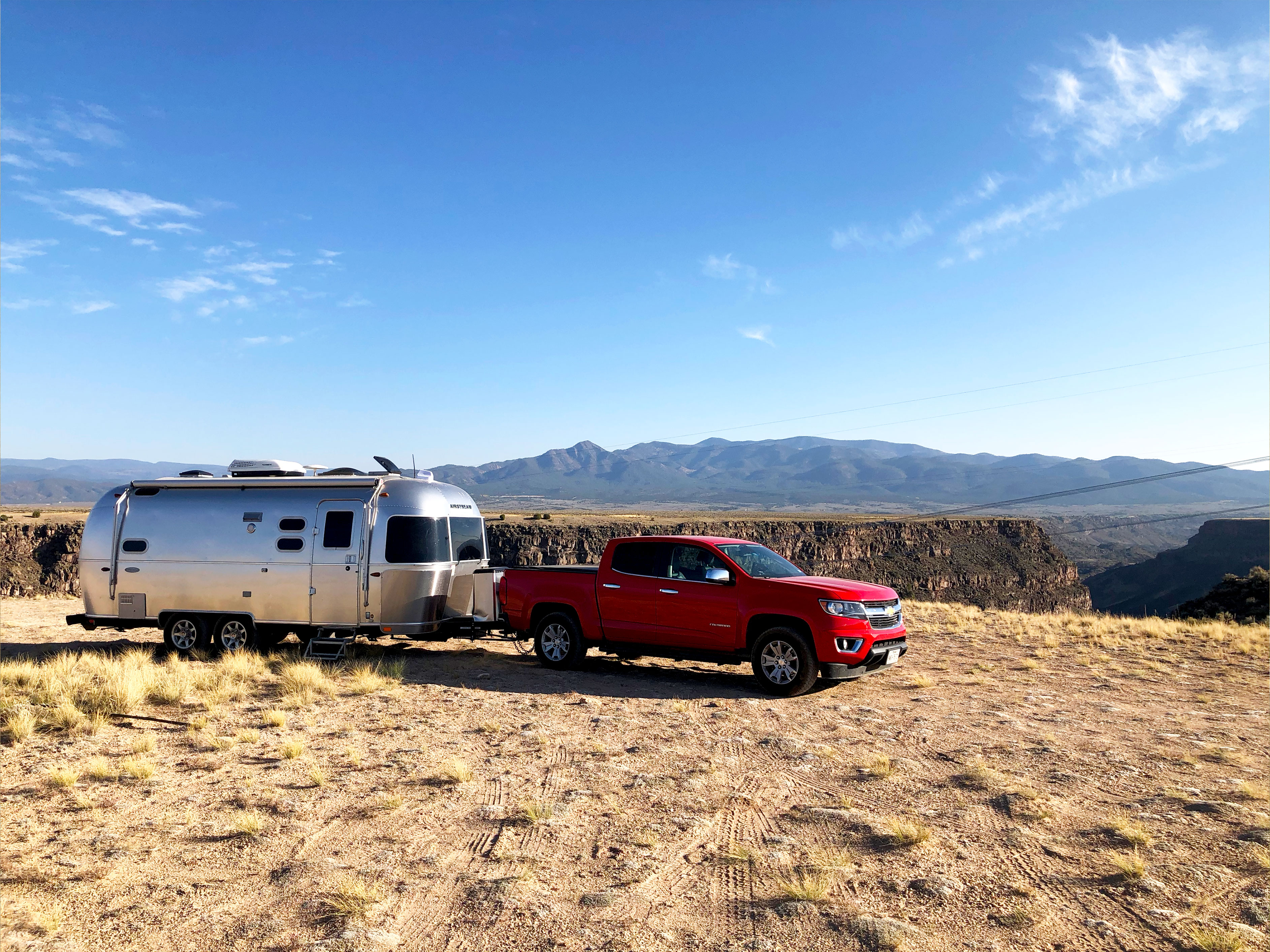 Outside of Taos, New Mexico. Airstream Flying Cloud 2018