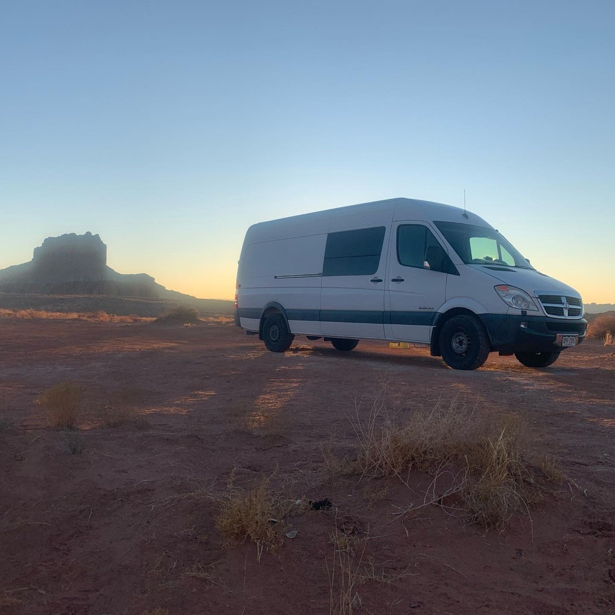 Desert dispersed camping. Dodge Sprinter Van 2008