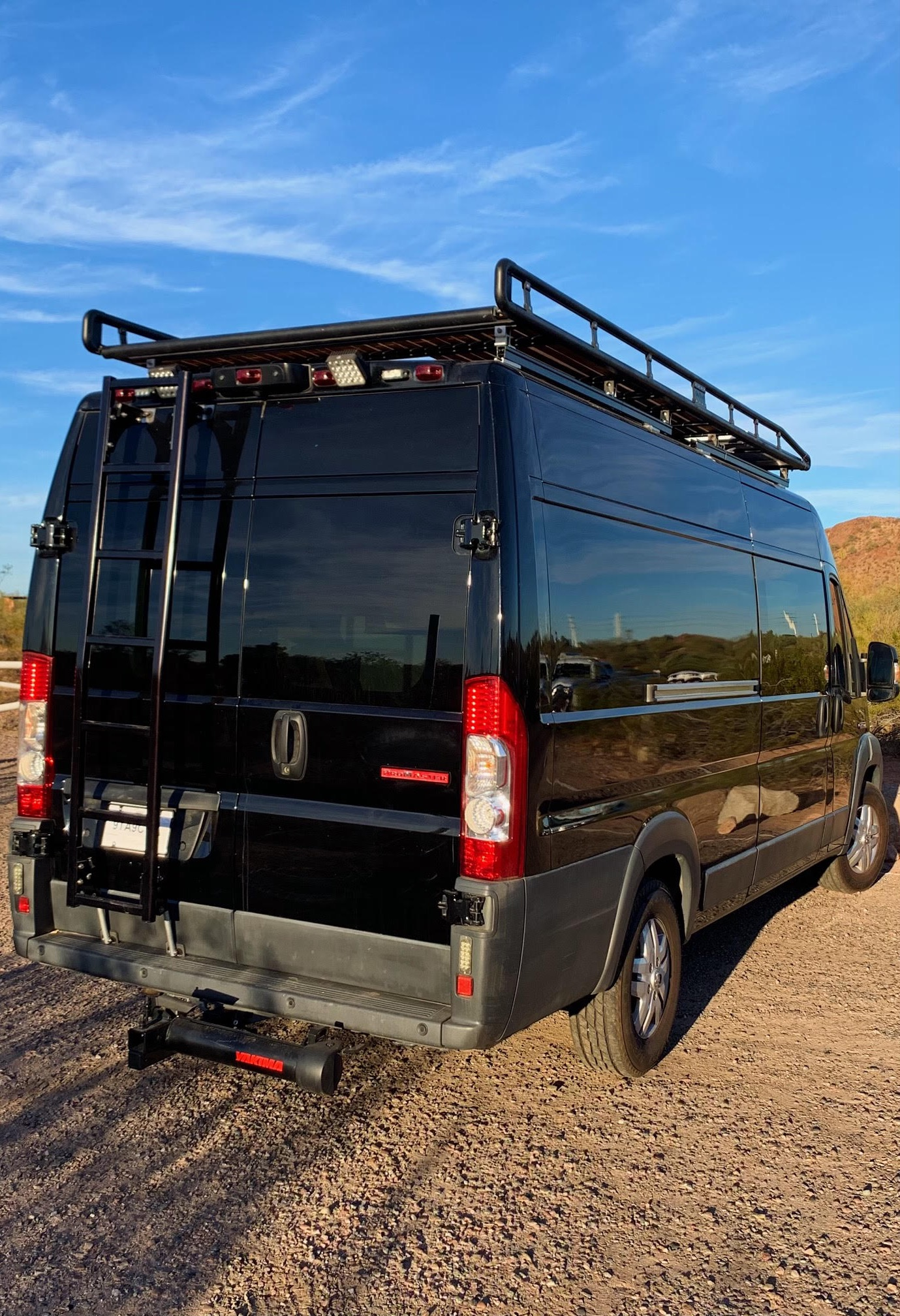 Ladder leading to roof deck. Ram Promaster 2017