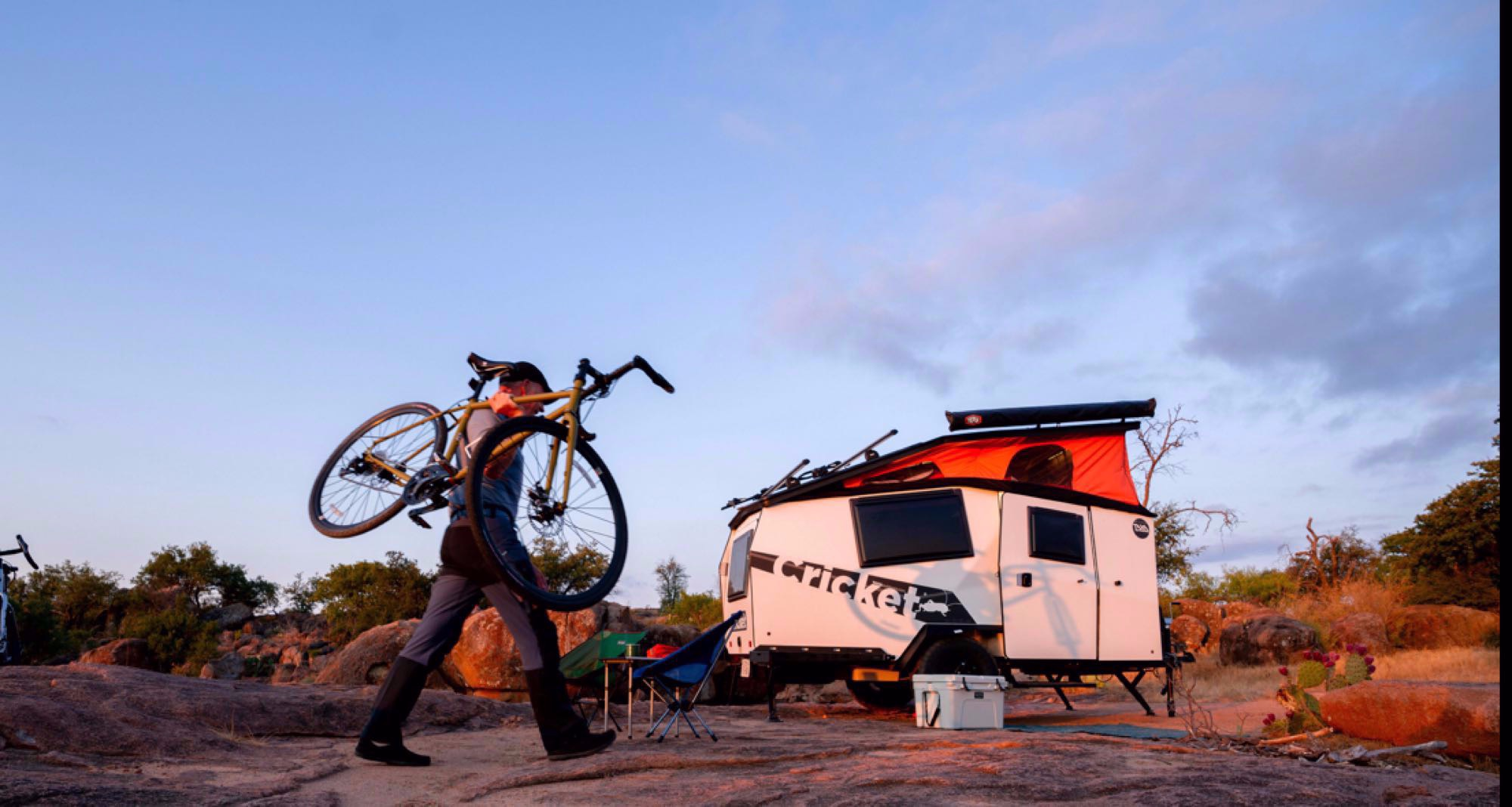 epic stock photo from Taxa'a site. The cooler and bike are not included. :). TAXA Outdoors Cricket Camper 2021