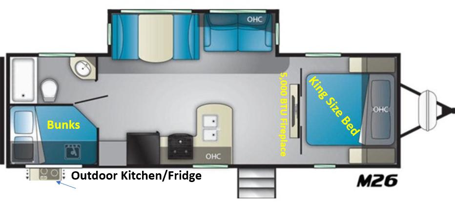 Floorplan. Heartland M26 2021