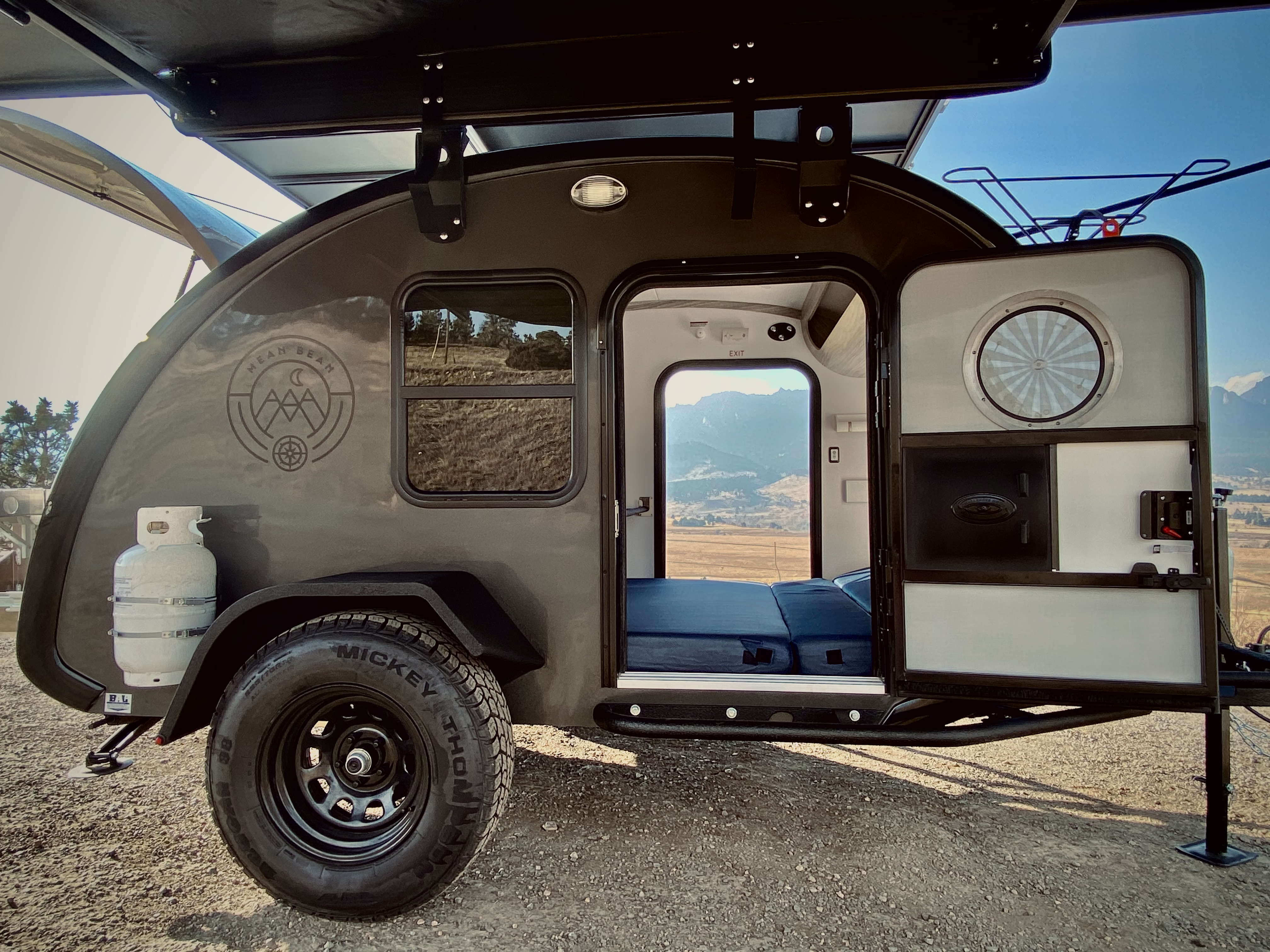Mobi may be a small camper compared to most, but with all his doors and windows and his outdoor kitchen, he feels incredibly spacious and roomy.. Bean Teardrop Trailer Mean Bean 2021