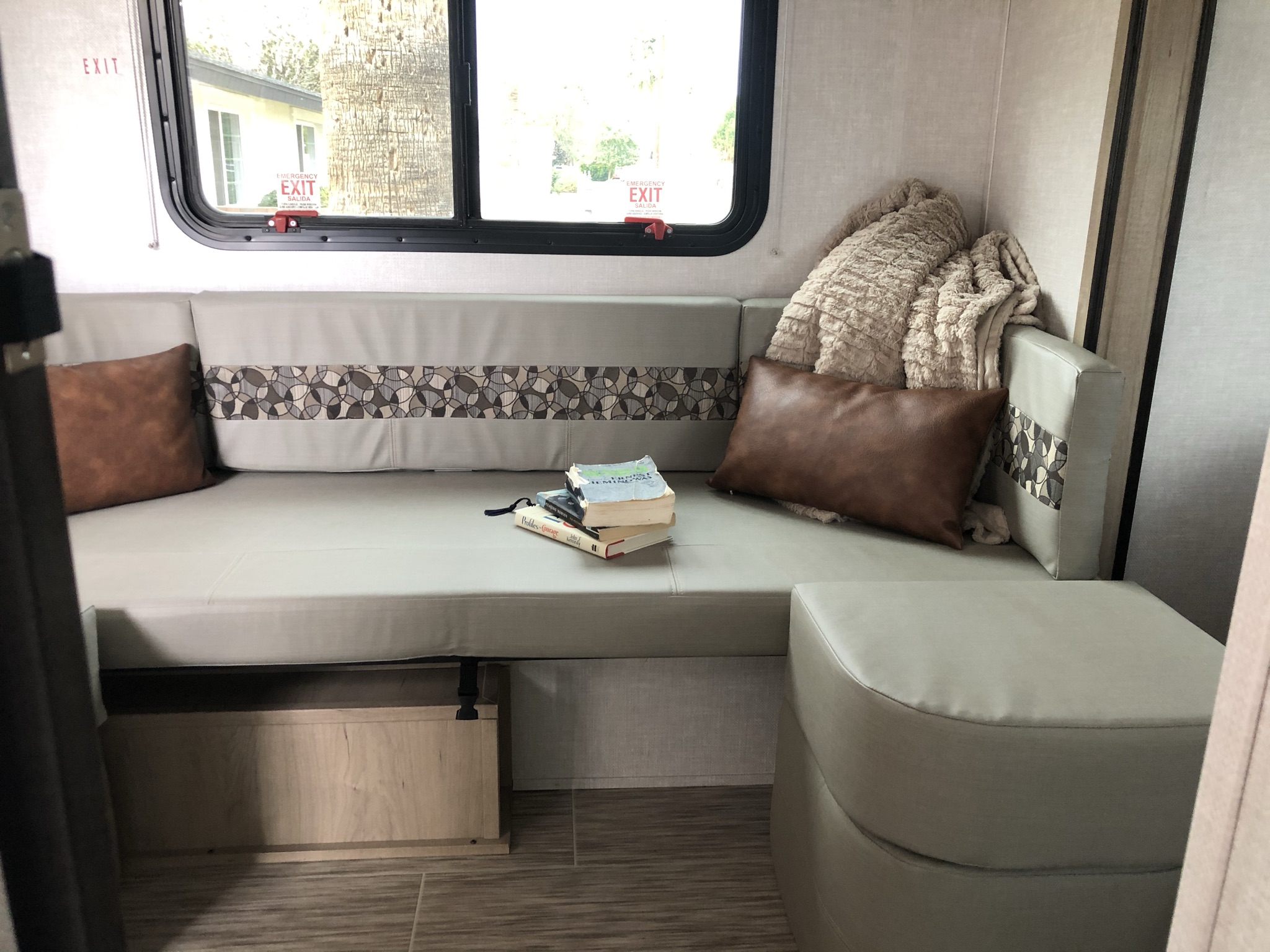 Removable table perfect for dining, also converts to a second bed for guests! . Forest River R-Pod 2020