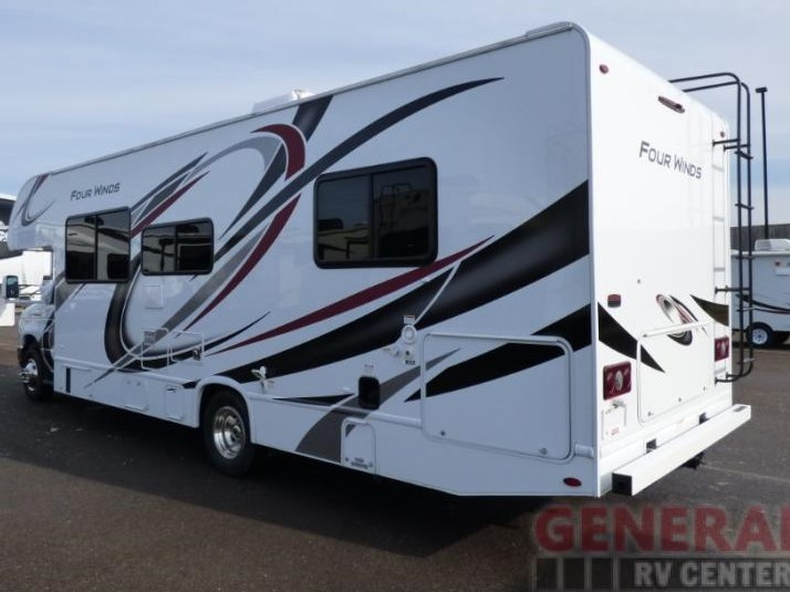 Lots of great outside storage space . Thor Four Winds 28A 2021