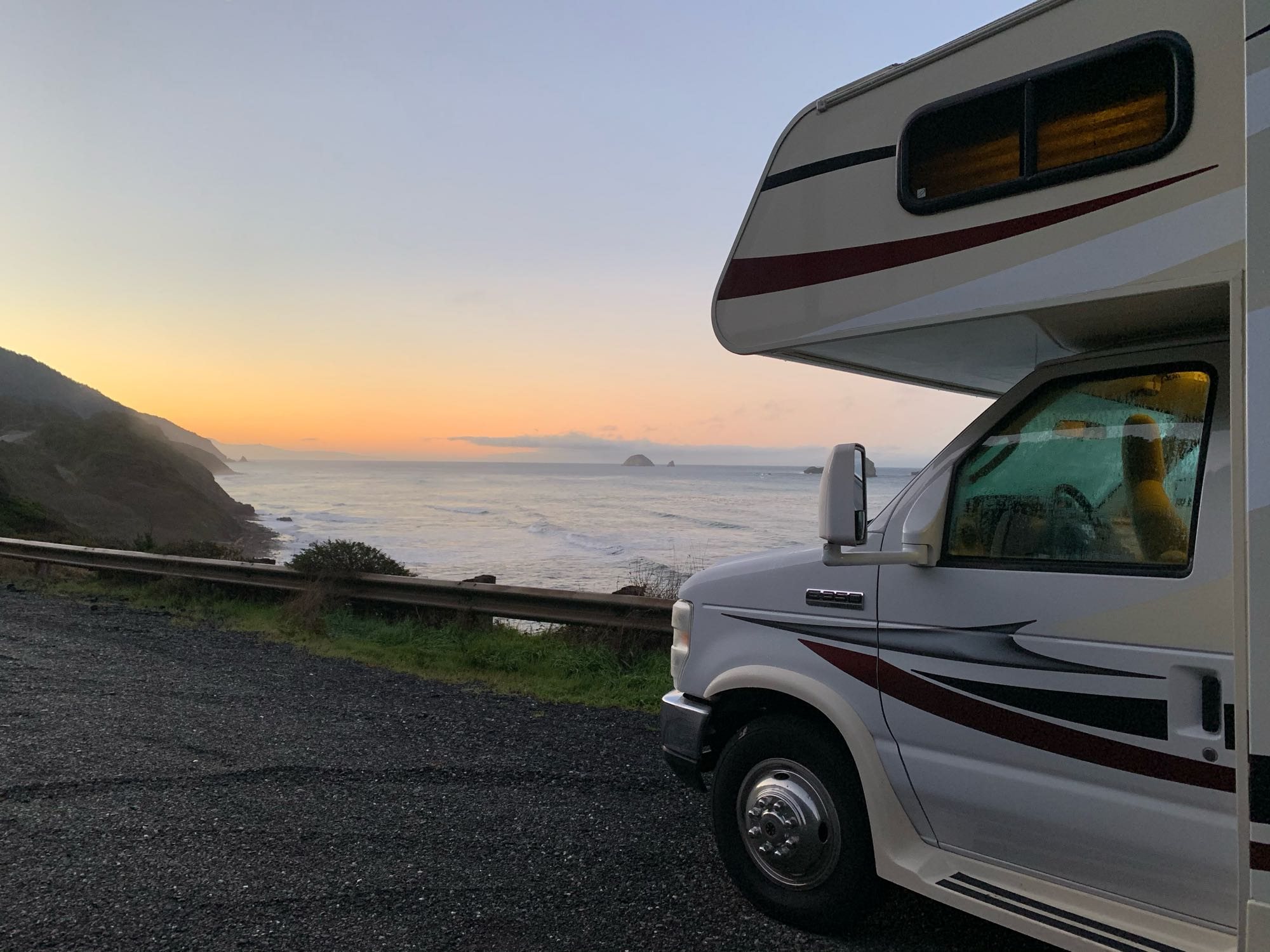Oregon Coast at Sunrise. Coachmen Freelander 2016