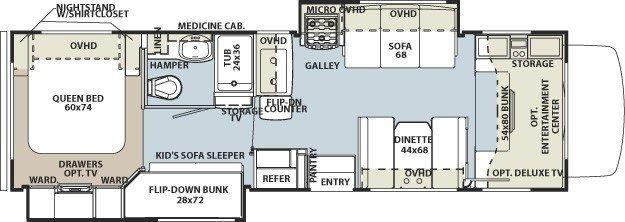 Floorplan/Layout. Forest River Sunseeker 2012