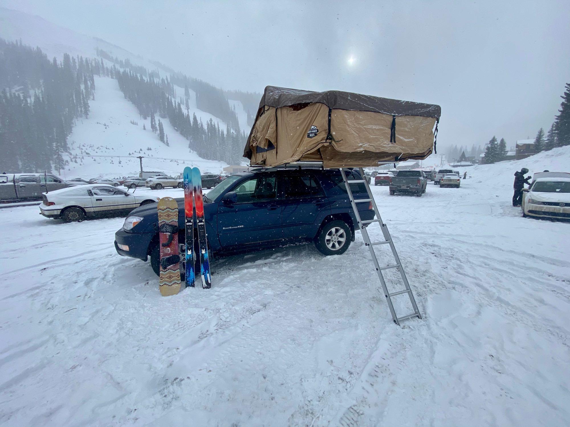 Camping at Loveland Ski Area. Custom Camper 2005