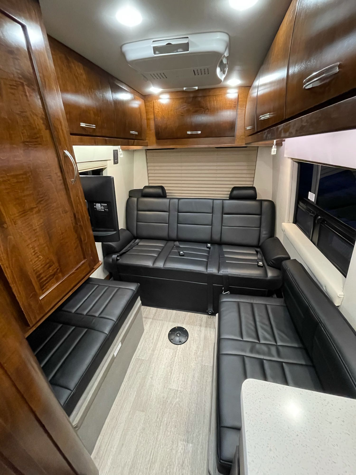 Rear bench seat and side jump seat.. Coachmen Galleria 24Q 2018